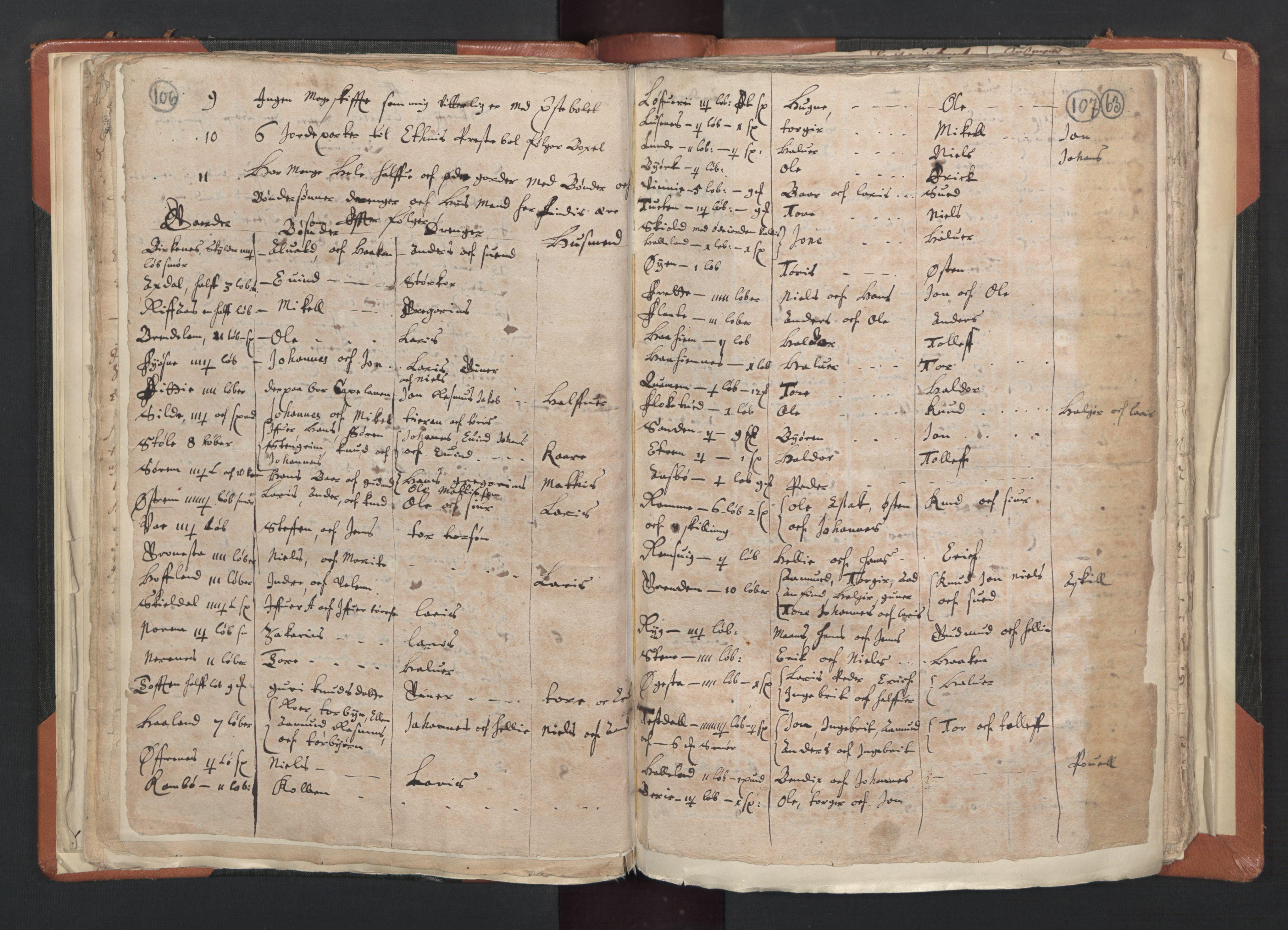 RA, Sogneprestenes manntall 1664-1666, nr. 20: Sunnhordland prosti, 1664-1666, s. 106-107