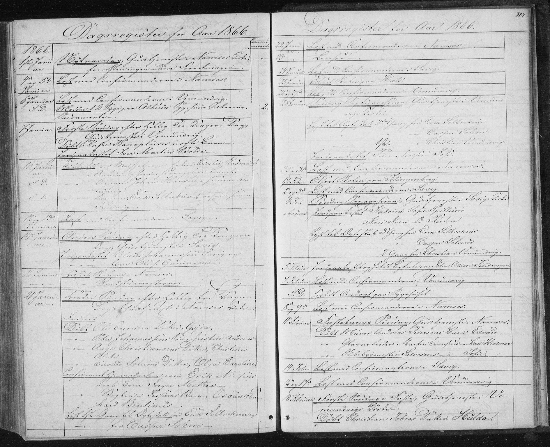 SAT, Ministerialprotokoller, klokkerbøker og fødselsregistre - Nord-Trøndelag, 768/L0570: Ministerialbok nr. 768A05, 1865-1874, s. 384