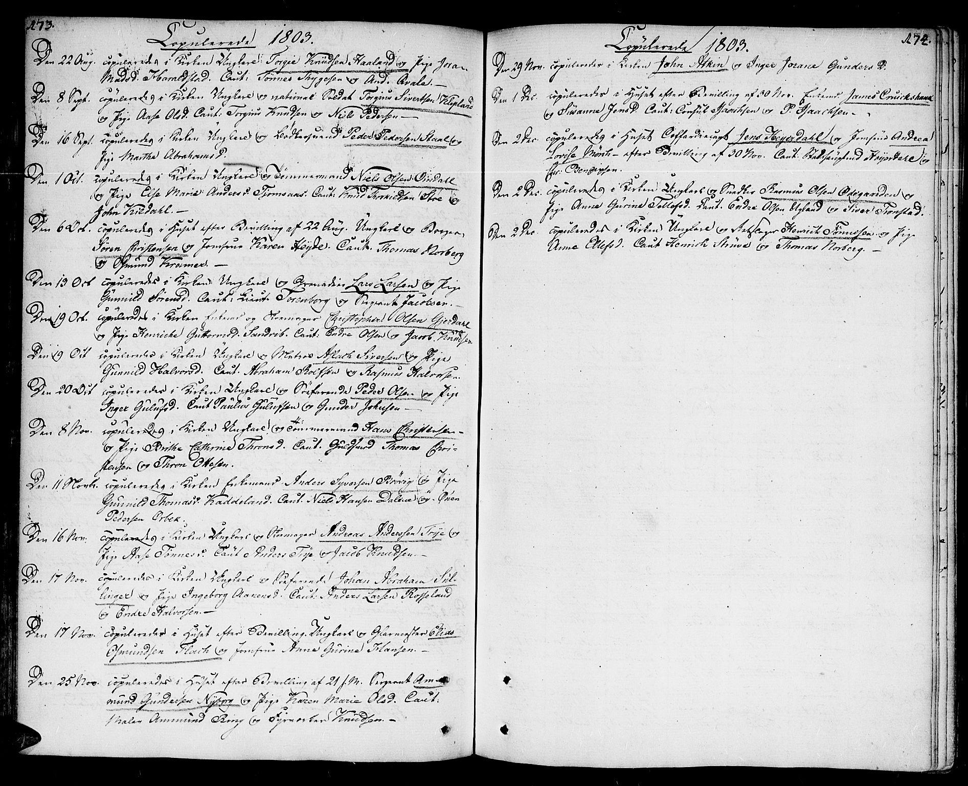 SAK, Kristiansand domprosti, F/Fa/L0005: Ministerialbok nr. A 5, 1776-1818, s. 173-174
