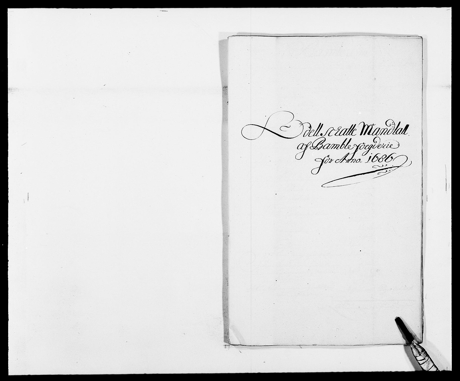 RA, Rentekammeret inntil 1814, Reviderte regnskaper, Fogderegnskap, R34/L2049: Fogderegnskap Bamble, 1685-1687, s. 64