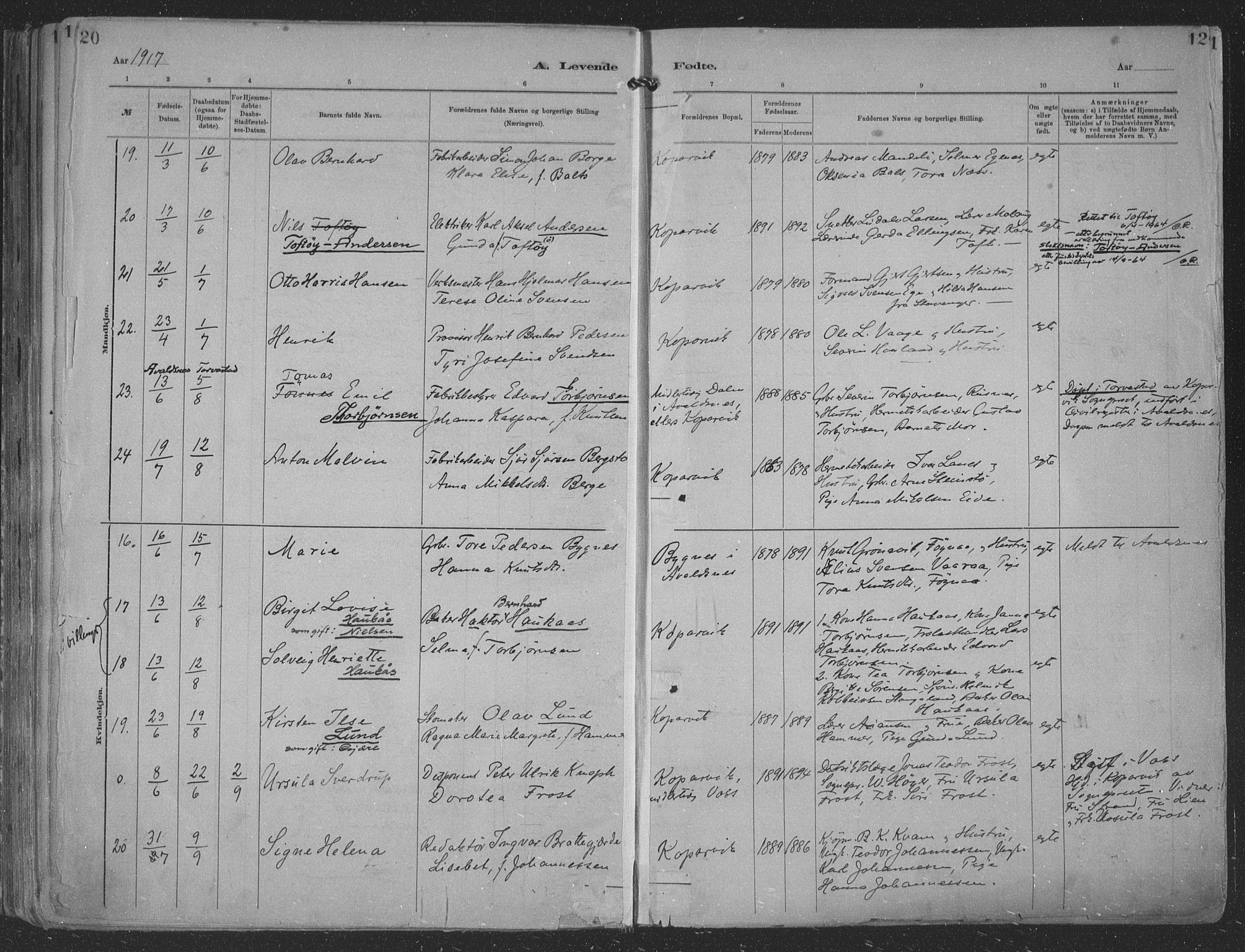 SAST, Kopervik sokneprestkontor, H/Ha/Haa/L0001: Ministerialbok nr. A 1, 1880-1919, s. 120