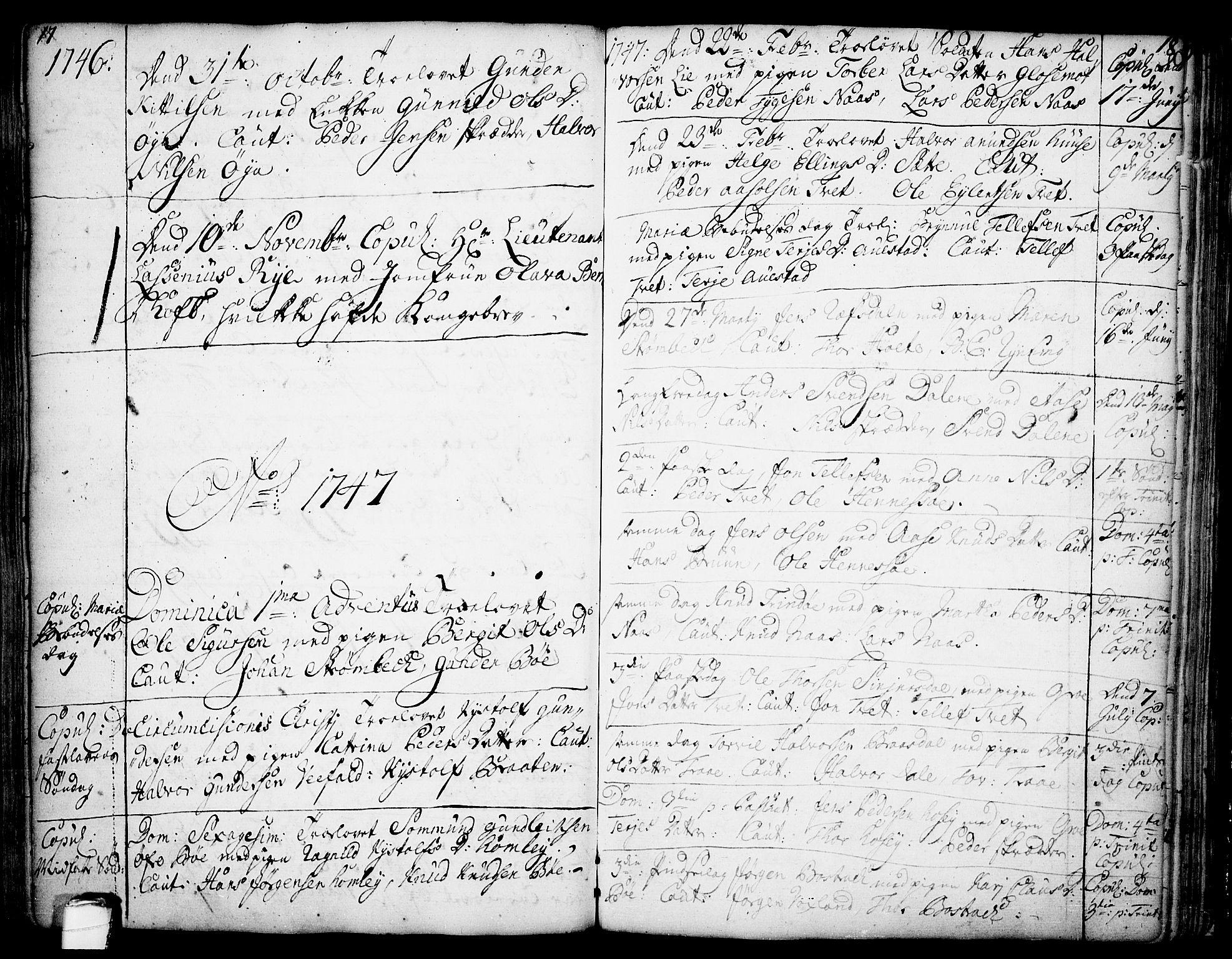 SAKO, Drangedal kirkebøker, F/Fa/L0002: Ministerialbok nr. 2, 1733-1753, s. 17-18