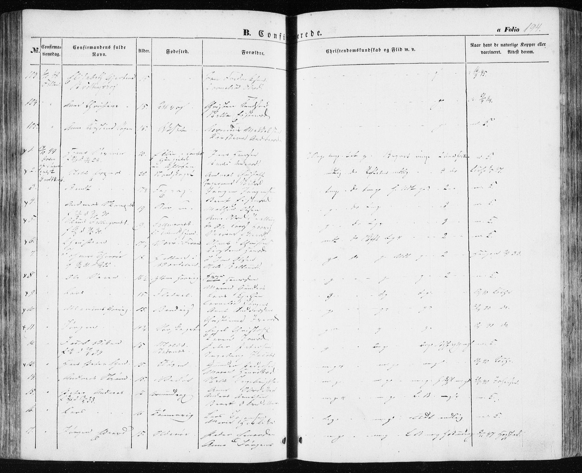 SAT, Ministerialprotokoller, klokkerbøker og fødselsregistre - Sør-Trøndelag, 634/L0529: Ministerialbok nr. 634A05, 1843-1851, s. 194