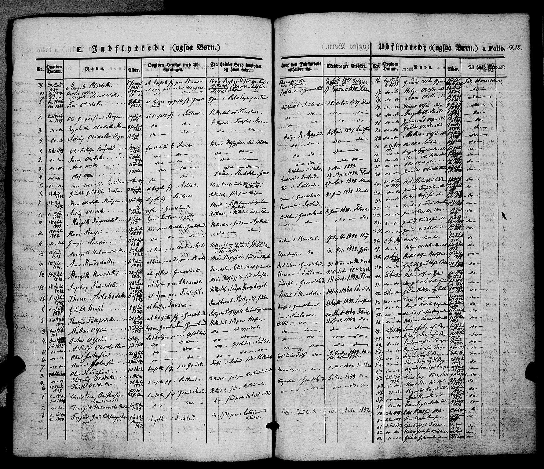 SAKO, Hjartdal kirkebøker, F/Fa/L0008: Ministerialbok nr. I 8, 1844-1859, s. 328