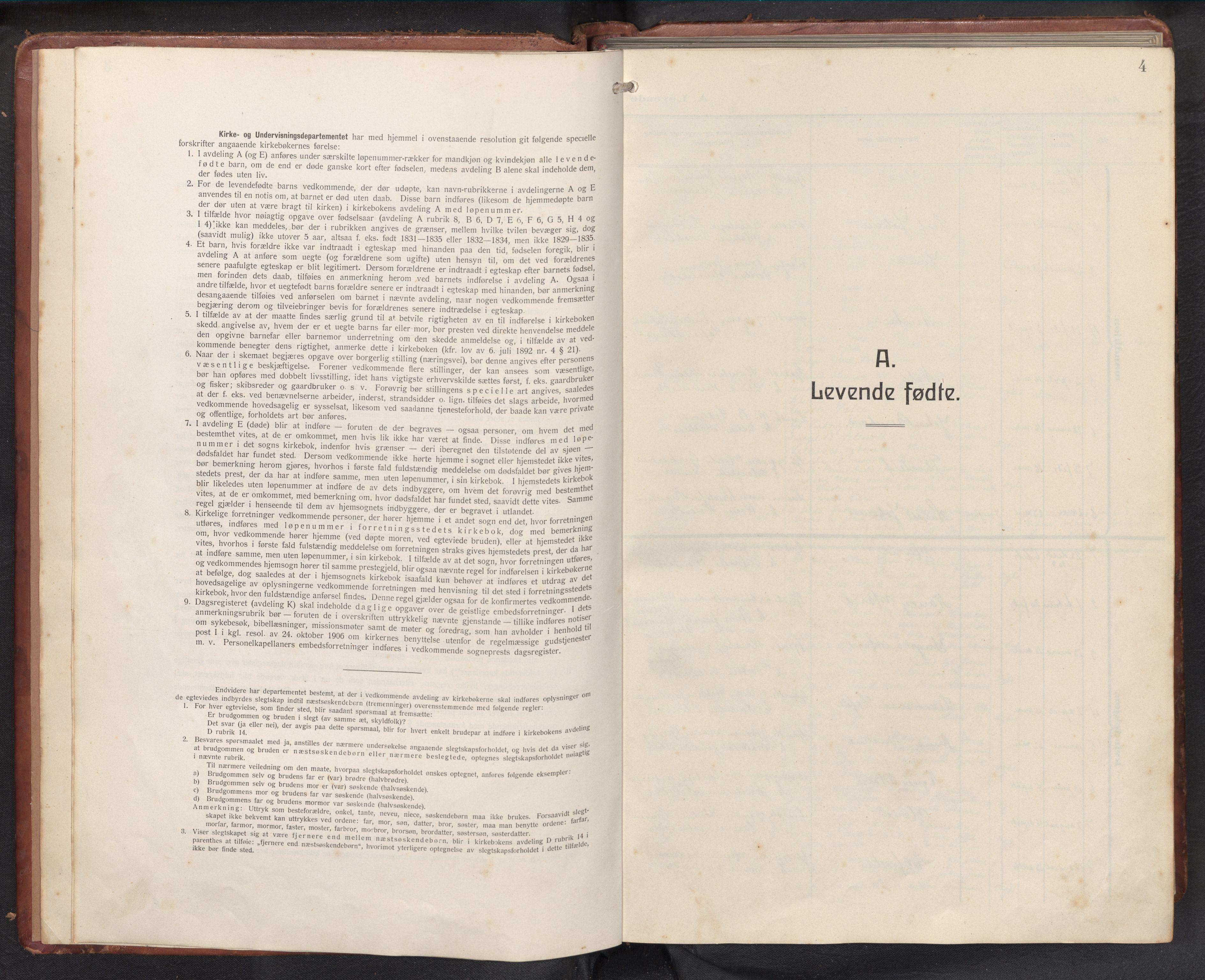 SAB, Askvoll sokneprestembete, H/Hab/Habb/L0002: Klokkerbok nr. B 2, 1910-1947, s. 3b-4a
