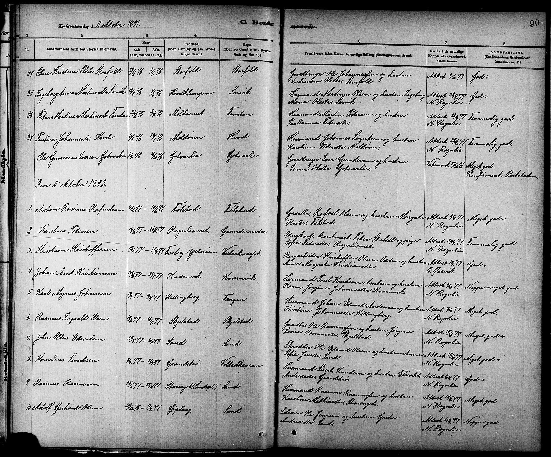 SAT, Ministerialprotokoller, klokkerbøker og fødselsregistre - Nord-Trøndelag, 744/L0423: Klokkerbok nr. 744C02, 1886-1905, s. 90