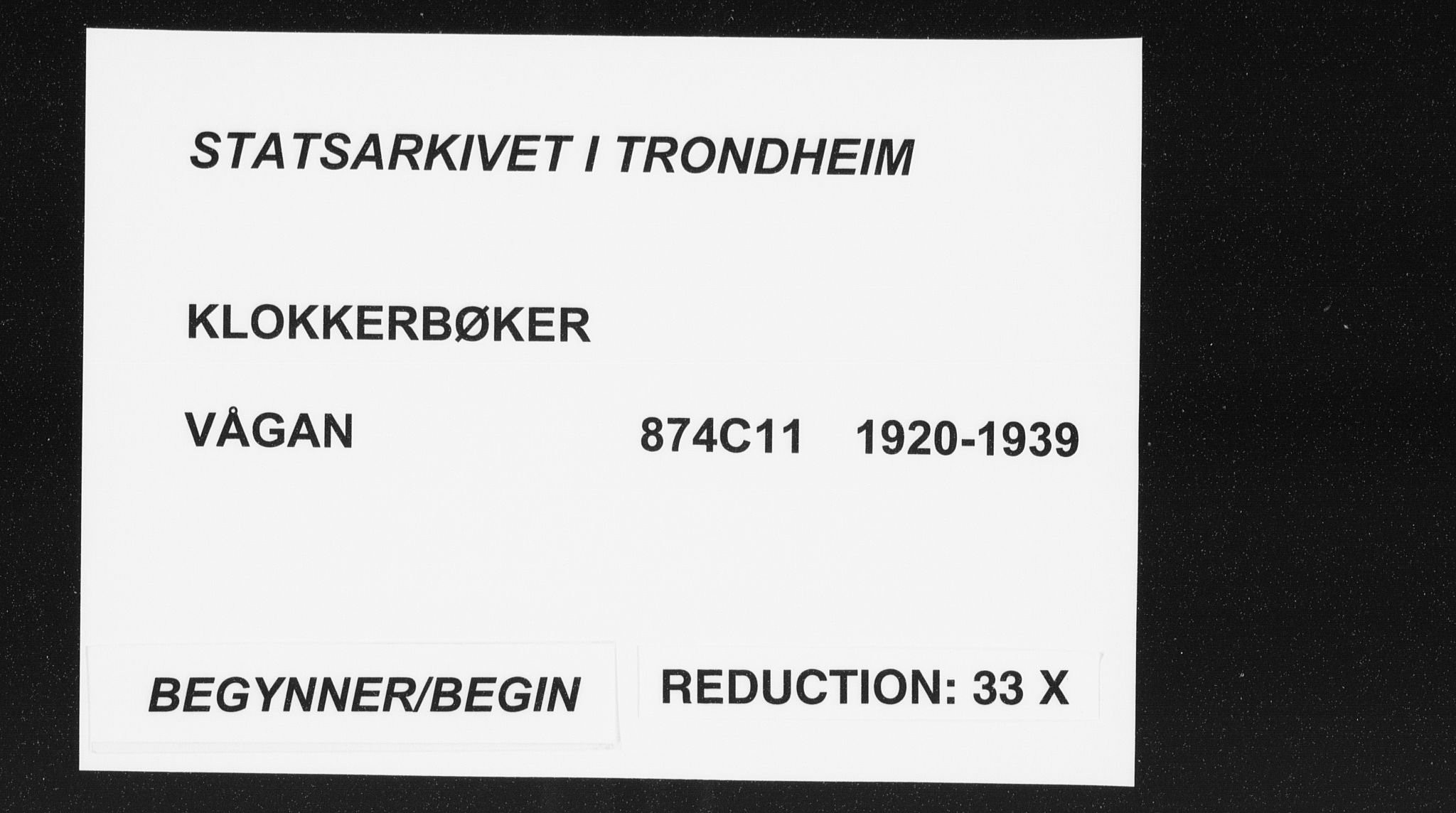 SAT, Ministerialprotokoller, klokkerbøker og fødselsregistre - Nordland, 874/L1082: Klokkerbok nr. 874C11, 1920-1939