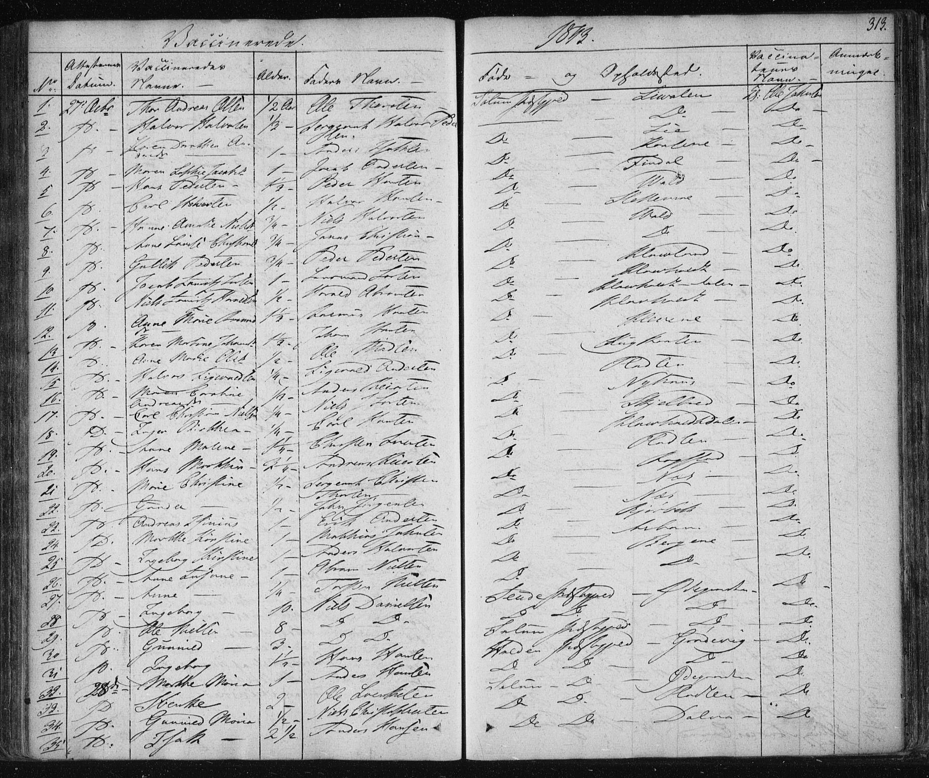 SAKO, Solum kirkebøker, F/Fa/L0005: Ministerialbok nr. I 5, 1833-1843, s. 313