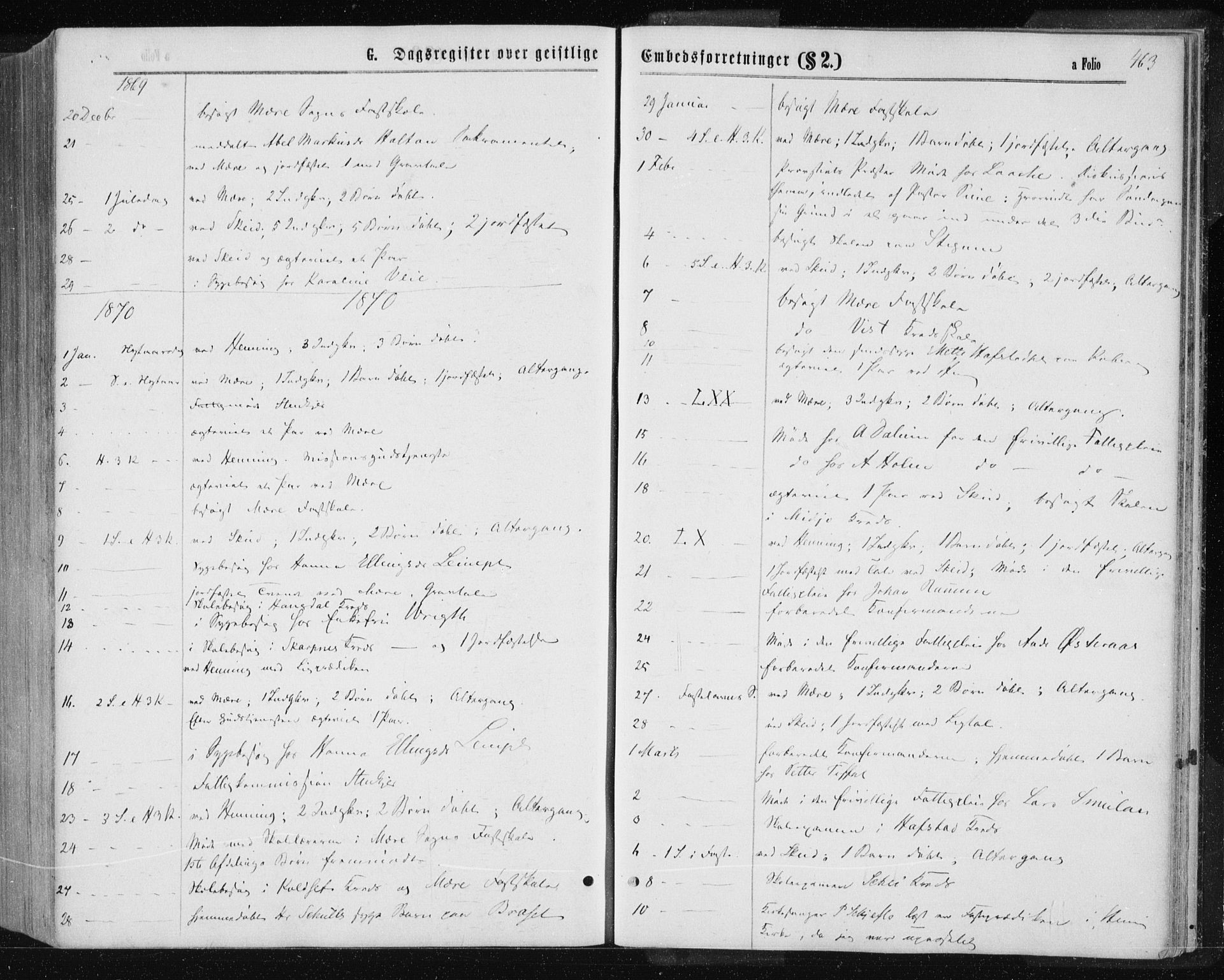 SAT, Ministerialprotokoller, klokkerbøker og fødselsregistre - Nord-Trøndelag, 735/L0345: Ministerialbok nr. 735A08 /1, 1863-1872, s. 463