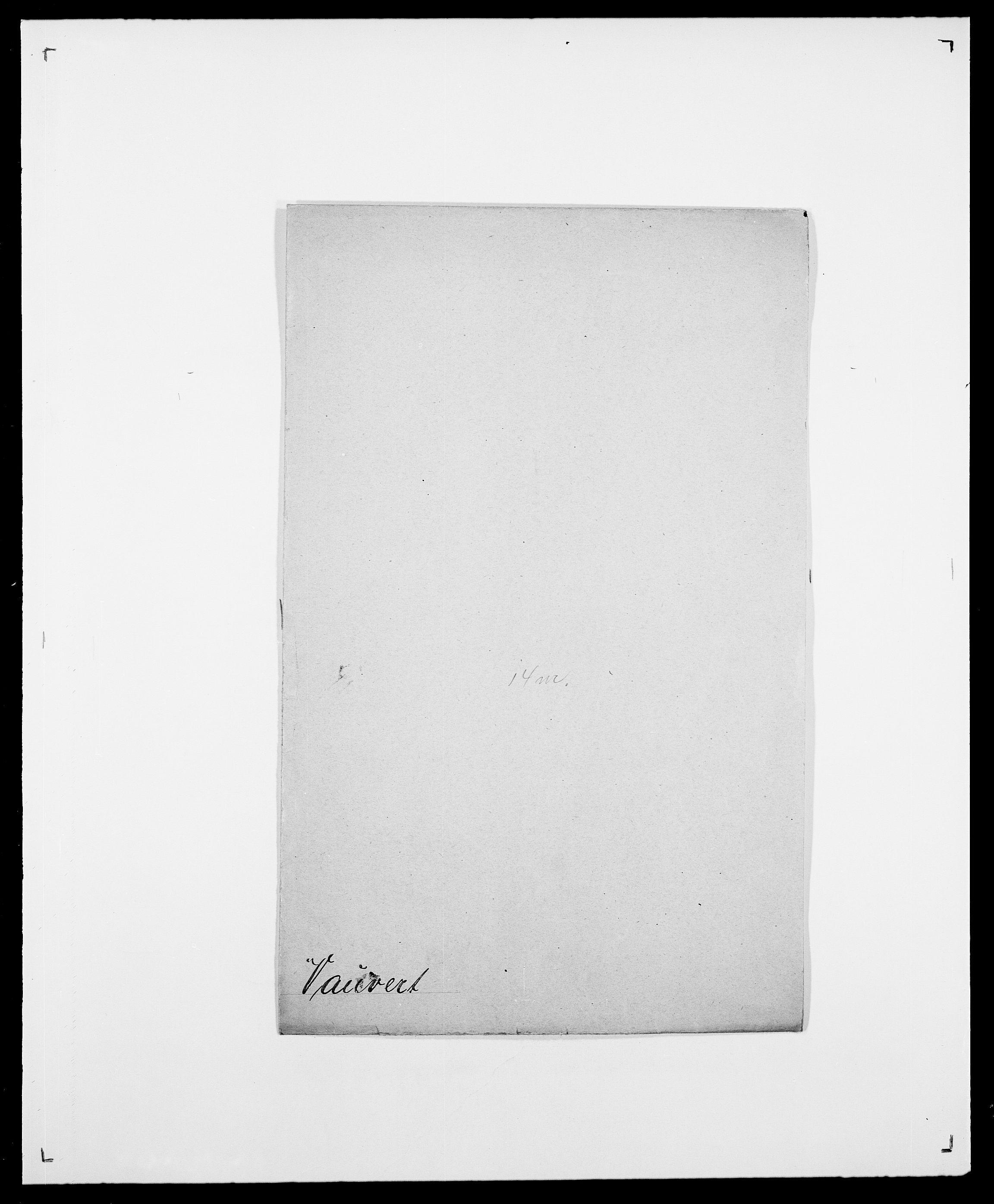 SAO, Delgobe, Charles Antoine - samling, D/Da/L0040: Usgaard - Velund, s. 395