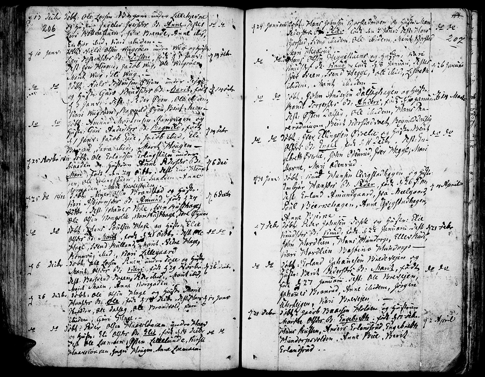 SAH, Fron prestekontor, H/Ha/Haa/L0001: Ministerialbok nr. 1, 1799-1816, s. 206-207