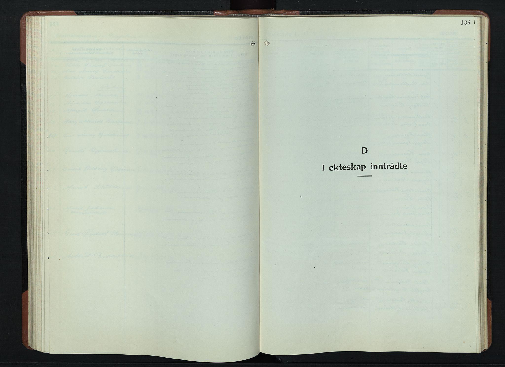 SAH, Vardal prestekontor, H/Ha/Hab/L0018: Klokkerbok nr. 18, 1931-1951, s. 134
