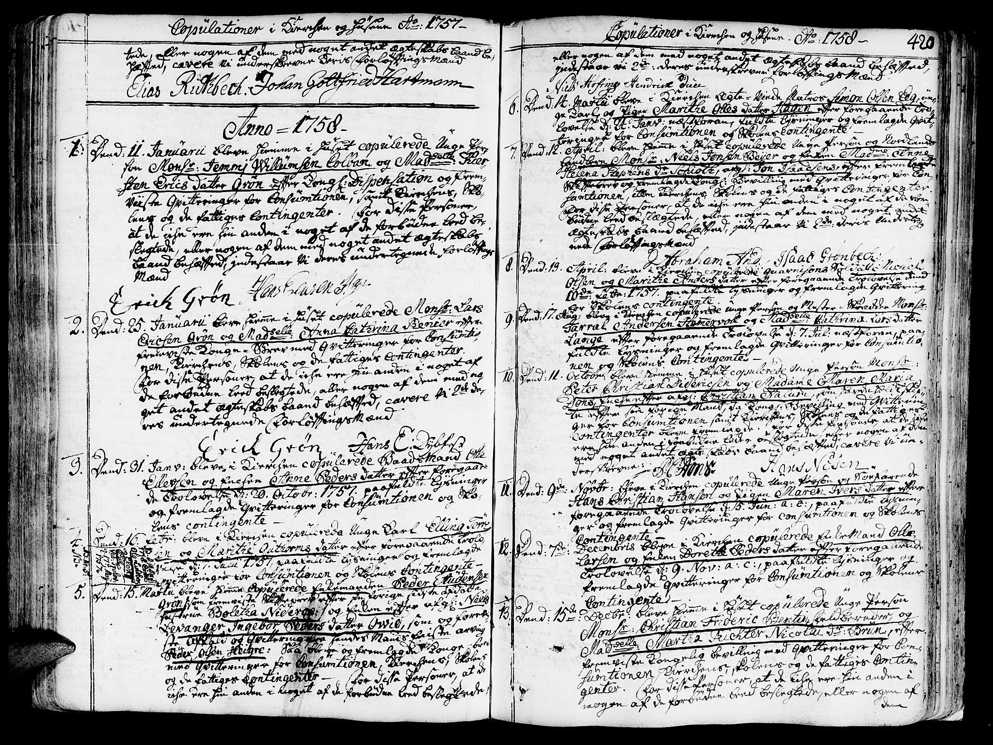 SAT, Ministerialprotokoller, klokkerbøker og fødselsregistre - Sør-Trøndelag, 602/L0103: Ministerialbok nr. 602A01, 1732-1774, s. 420