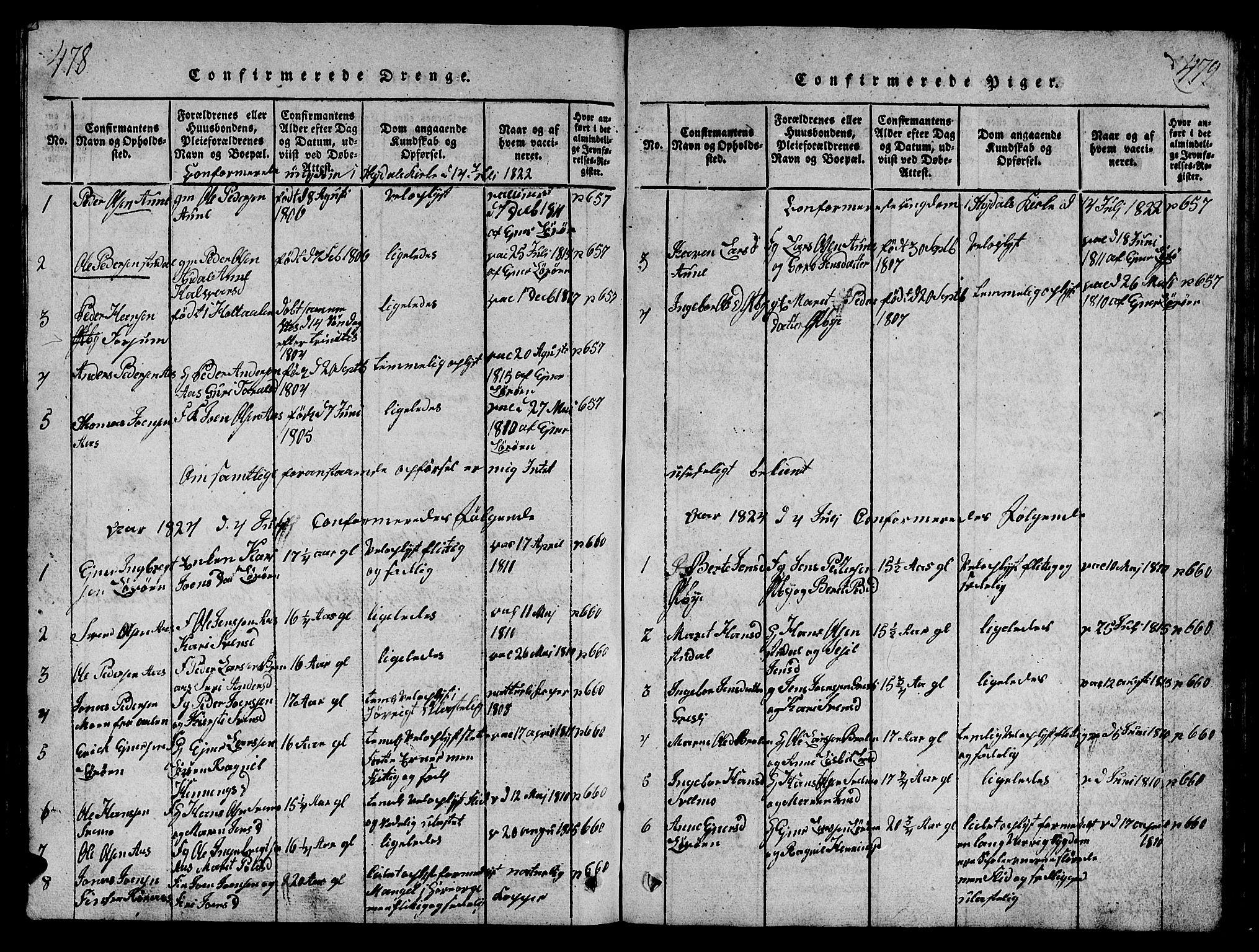 SAT, Ministerialprotokoller, klokkerbøker og fødselsregistre - Sør-Trøndelag, 698/L1164: Klokkerbok nr. 698C01, 1816-1861, s. 478-479