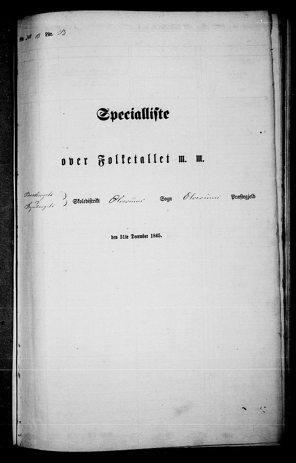RA, Folketelling 1865 for 0427P Elverum prestegjeld, 1865, s. 228