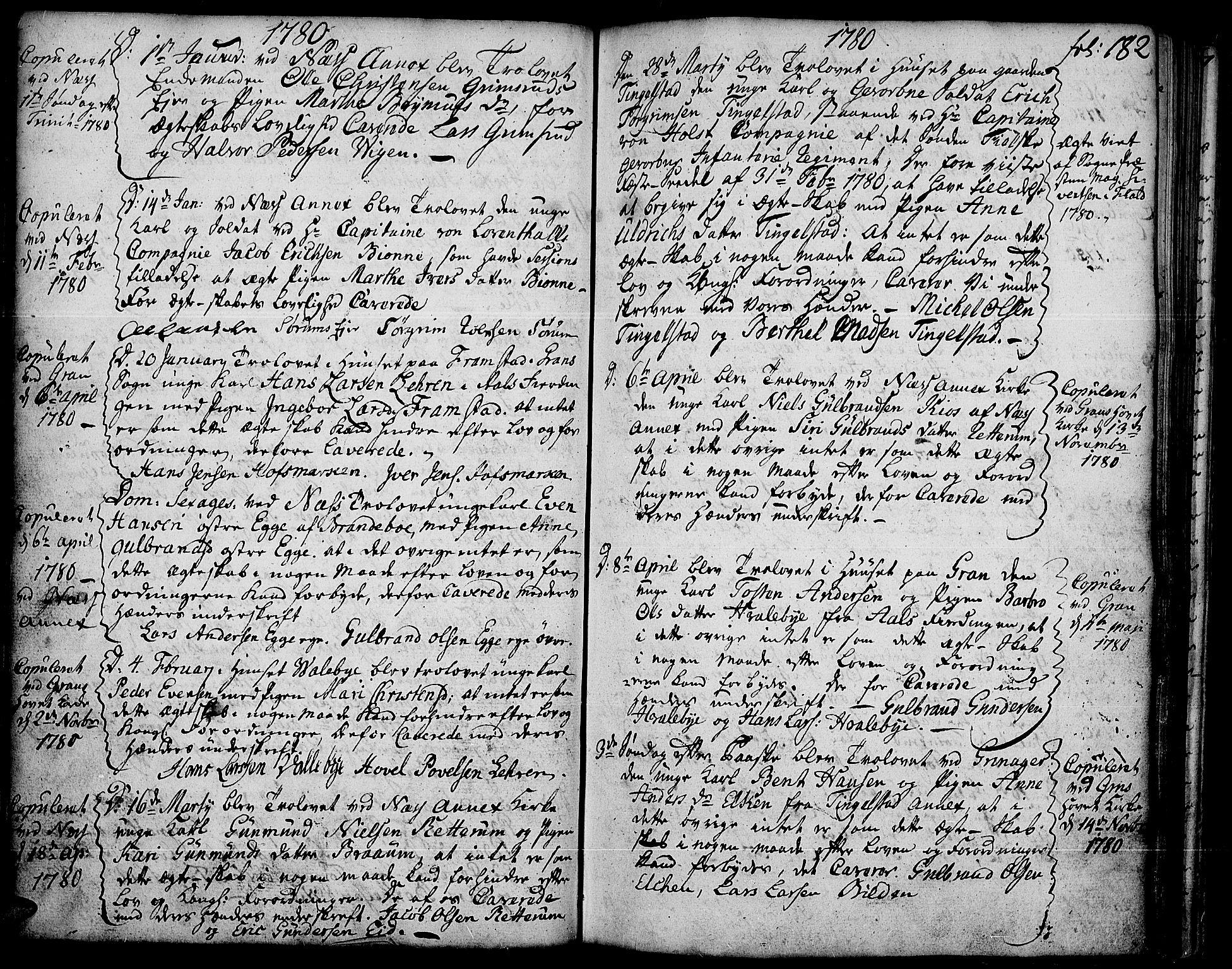 SAH, Gran prestekontor, Ministerialbok nr. 5, 1776-1788, s. 182