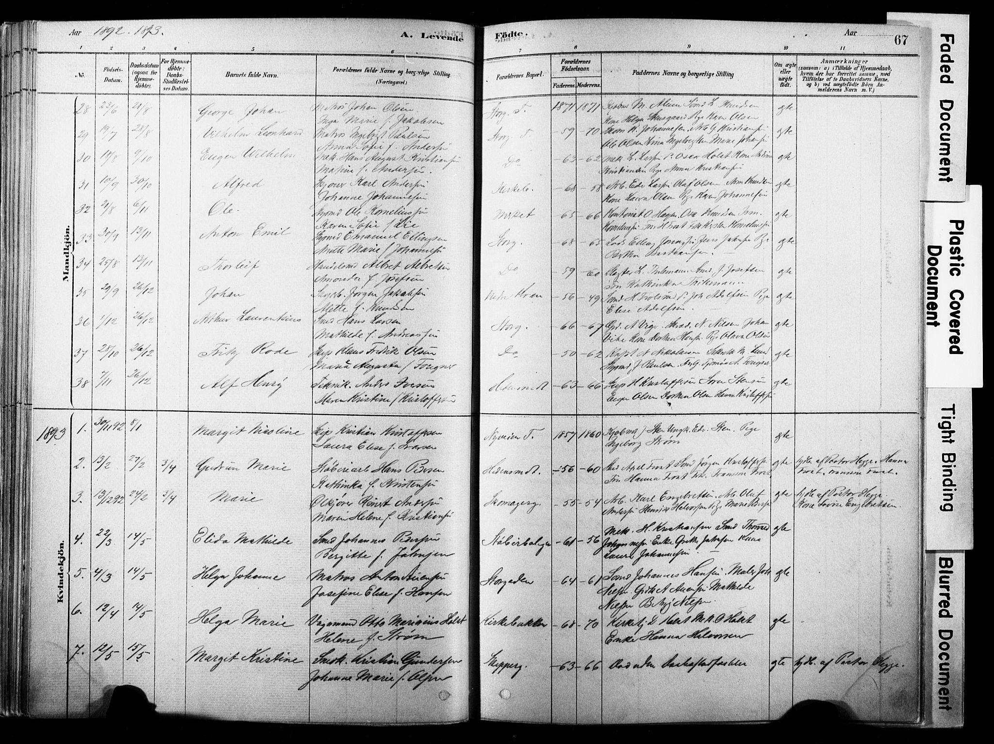 SAKO, Strømsø kirkebøker, F/Fb/L0006: Ministerialbok nr. II 6, 1879-1910, s. 67