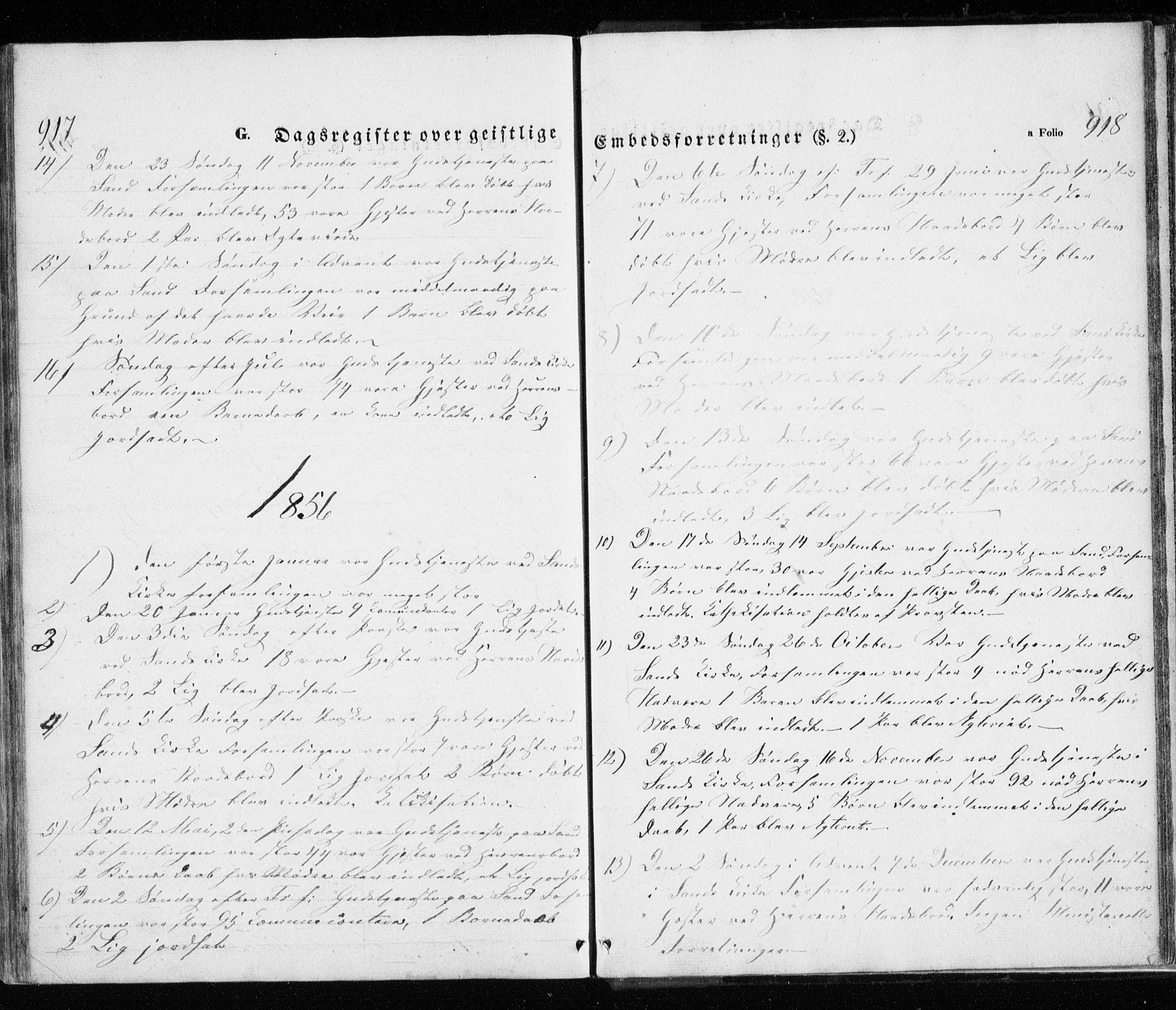 SATØ, Trondenes sokneprestkontor, H/Ha/L0010kirke: Ministerialbok nr. 10, 1840-1865, s. 917-918
