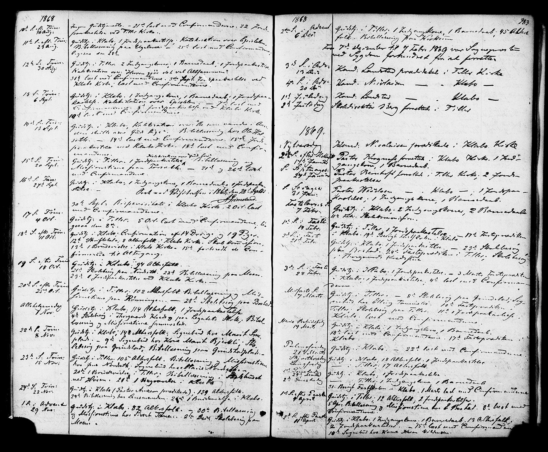 SAT, Ministerialprotokoller, klokkerbøker og fødselsregistre - Sør-Trøndelag, 618/L0442: Ministerialbok nr. 618A06 /1, 1863-1879, s. 383