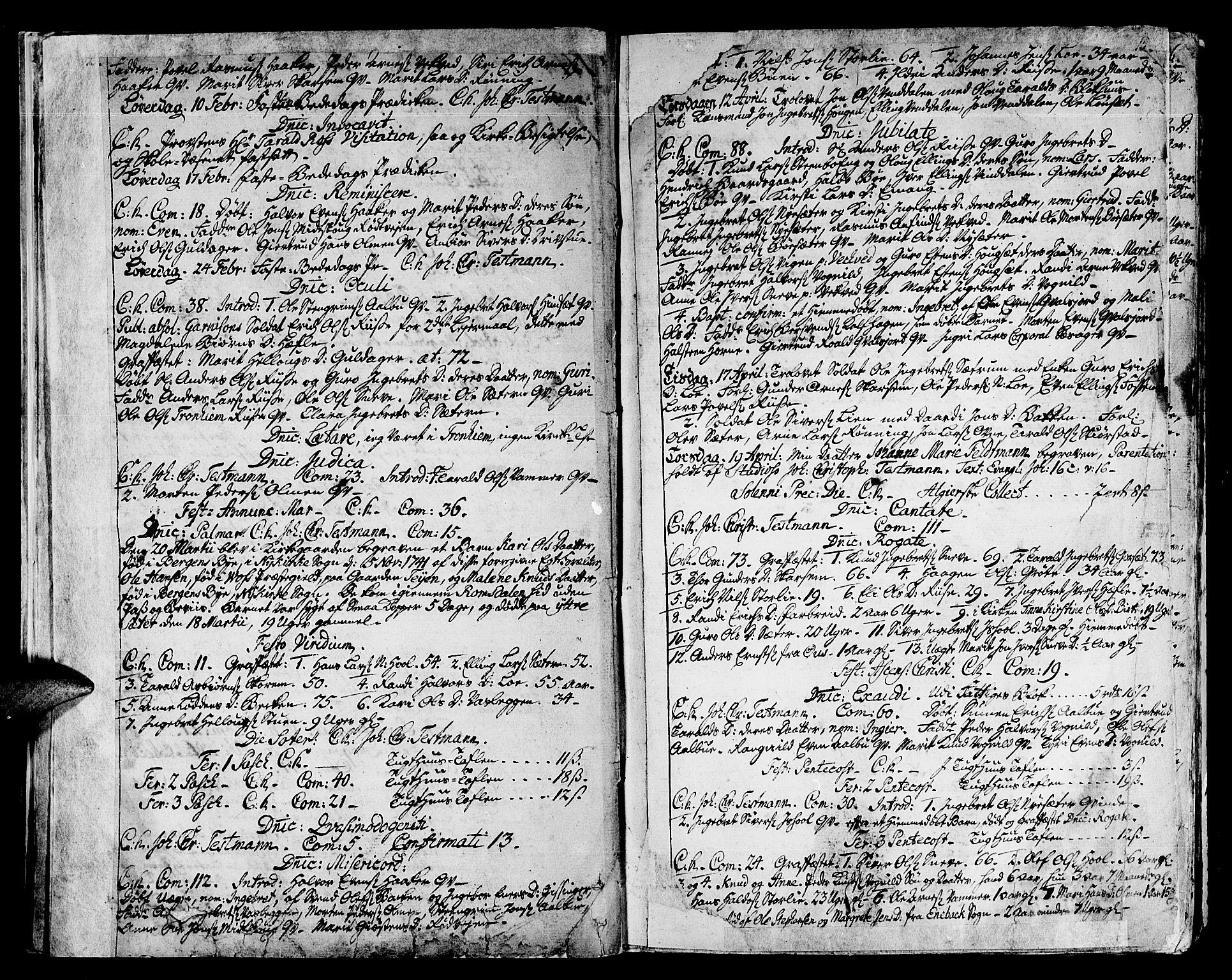 SAT, Ministerialprotokoller, klokkerbøker og fødselsregistre - Sør-Trøndelag, 678/L0891: Ministerialbok nr. 678A01, 1739-1780, s. 15