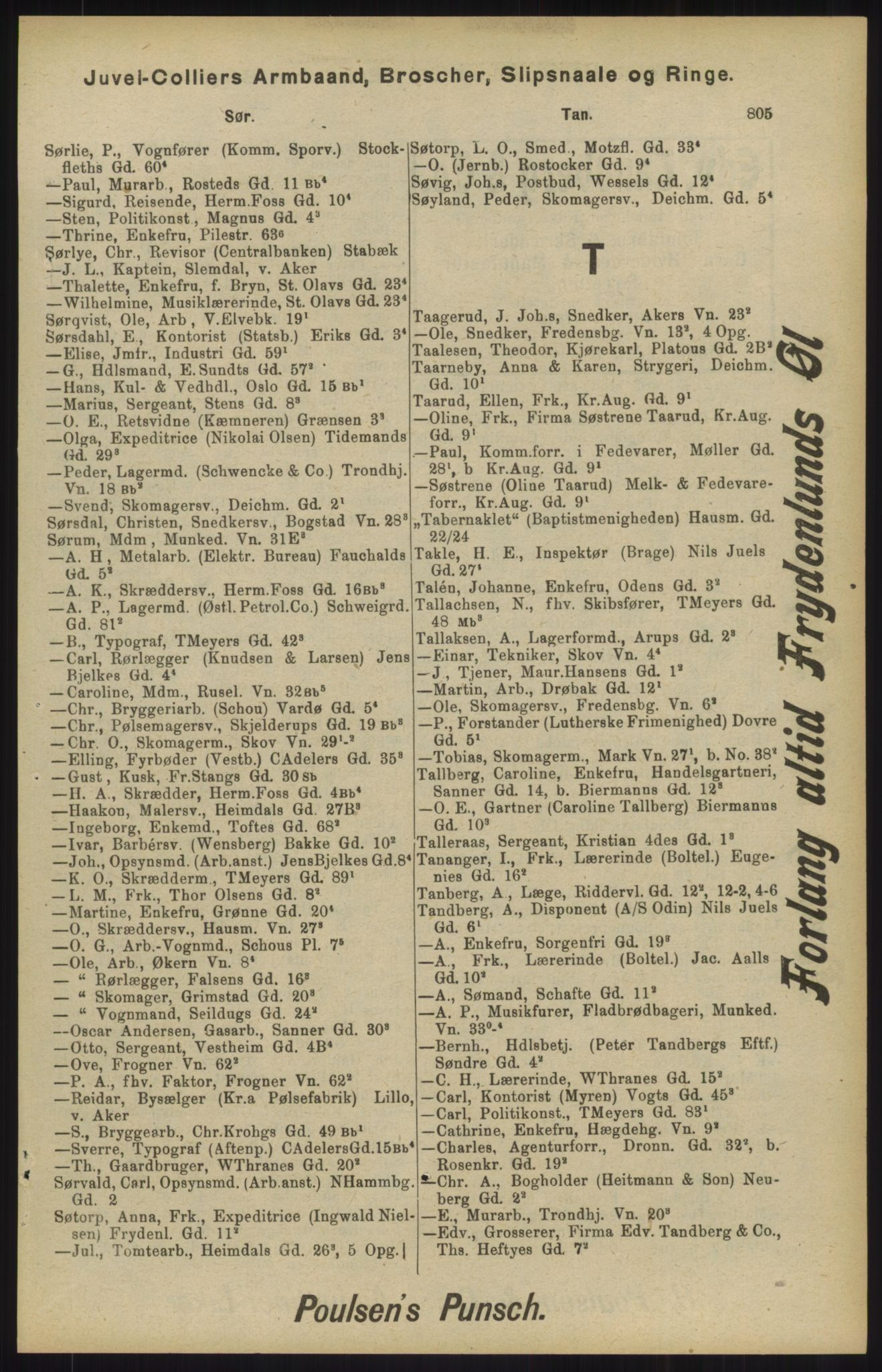 RA, Kristiania adressebok (publikasjon)*, 1904, s. 805