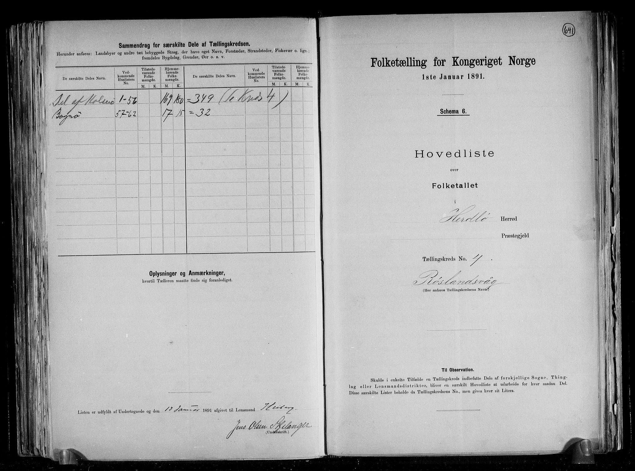 RA, Folketelling 1891 for 1258 Herdla herred, 1891, s. 11