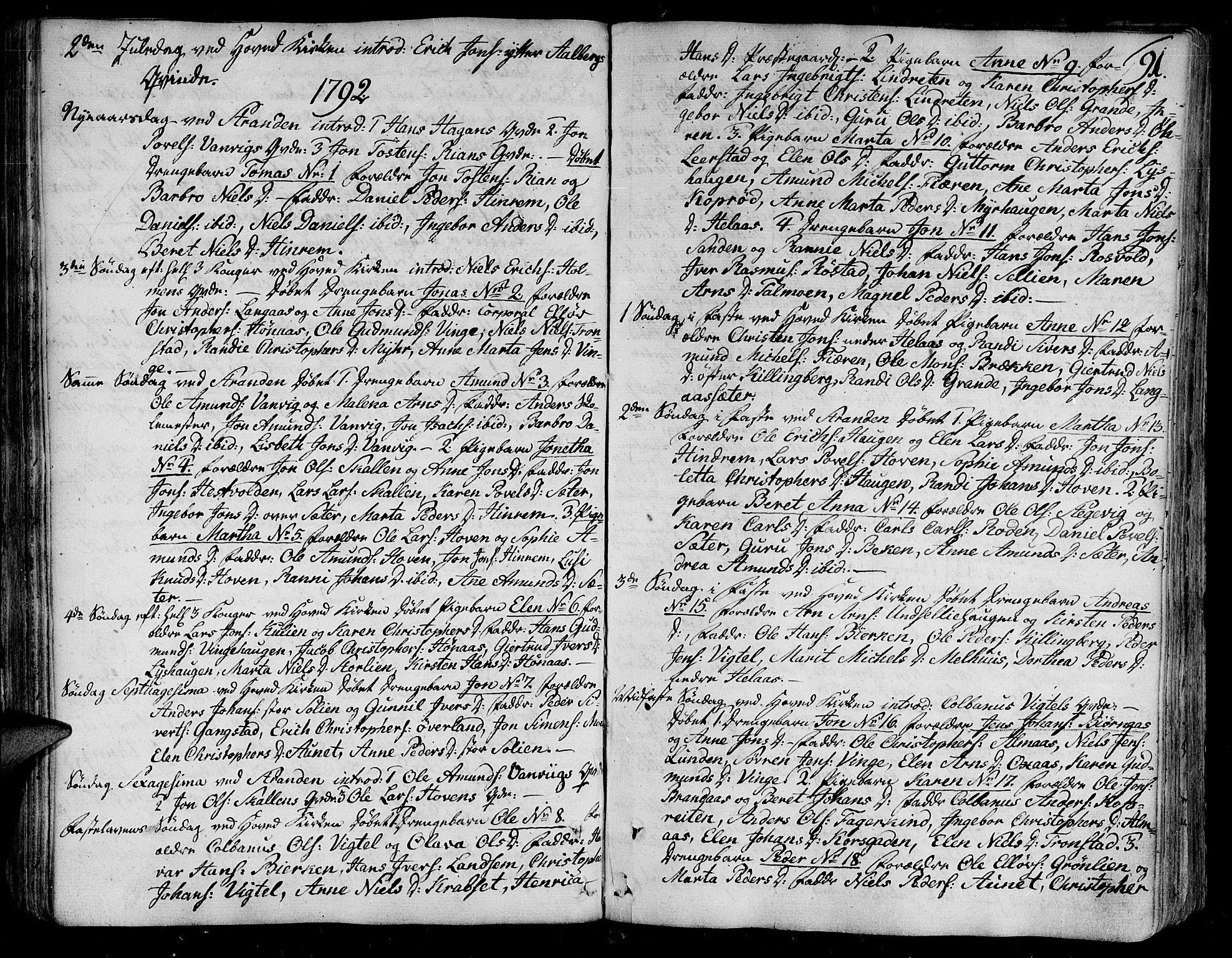 SAT, Ministerialprotokoller, klokkerbøker og fødselsregistre - Nord-Trøndelag, 701/L0004: Ministerialbok nr. 701A04, 1783-1816, s. 91