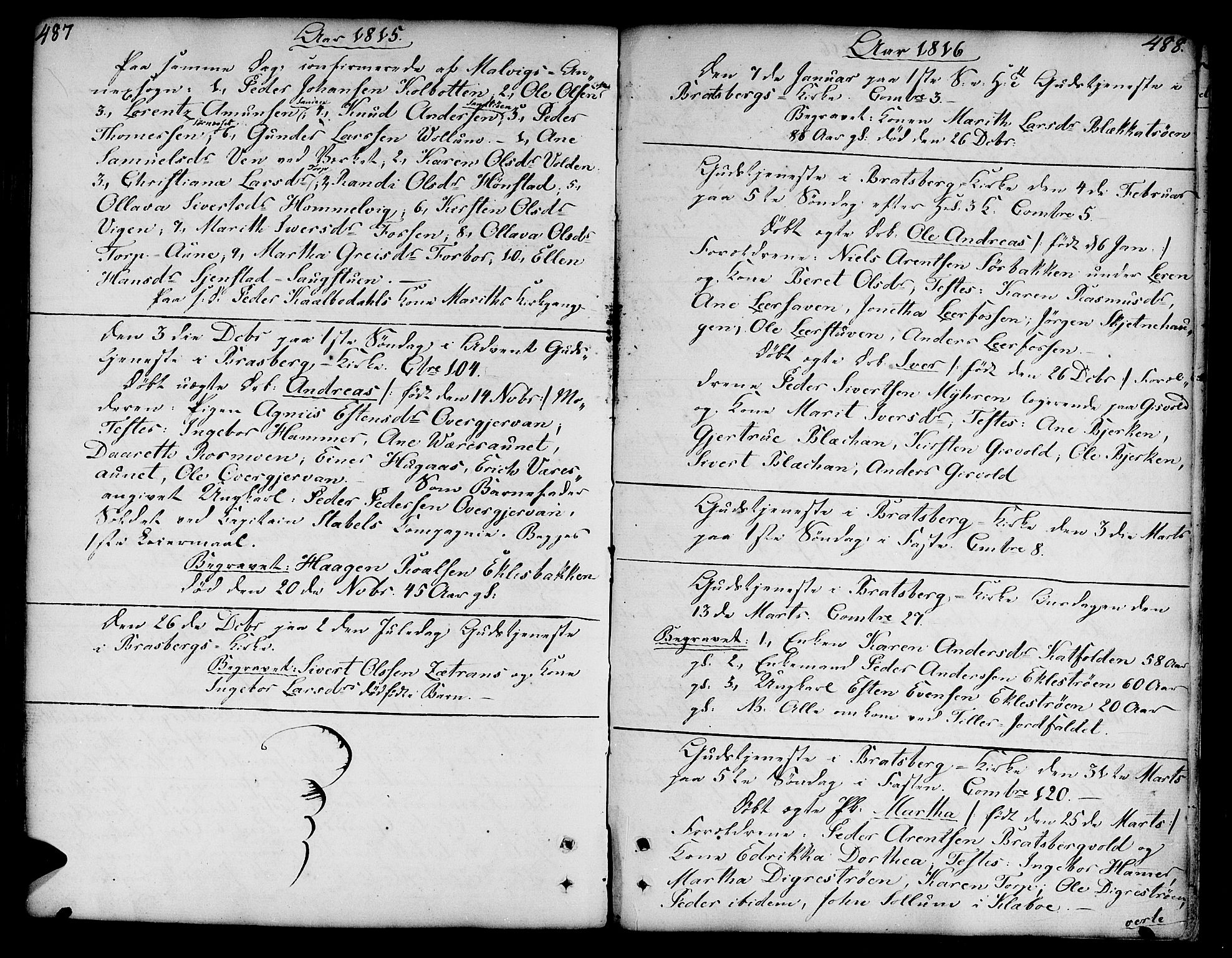 SAT, Ministerialprotokoller, klokkerbøker og fødselsregistre - Sør-Trøndelag, 606/L0282: Ministerialbok nr. 606A02 /3, 1781-1817, s. 487-488