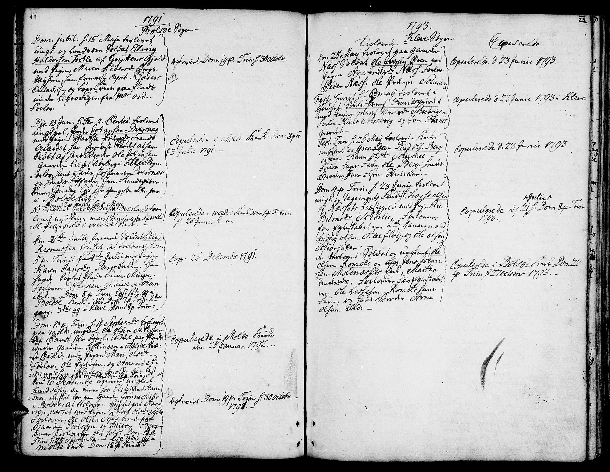 SAT, Ministerialprotokoller, klokkerbøker og fødselsregistre - Møre og Romsdal, 555/L0648: Ministerialbok nr. 555A01, 1759-1793, s. 22