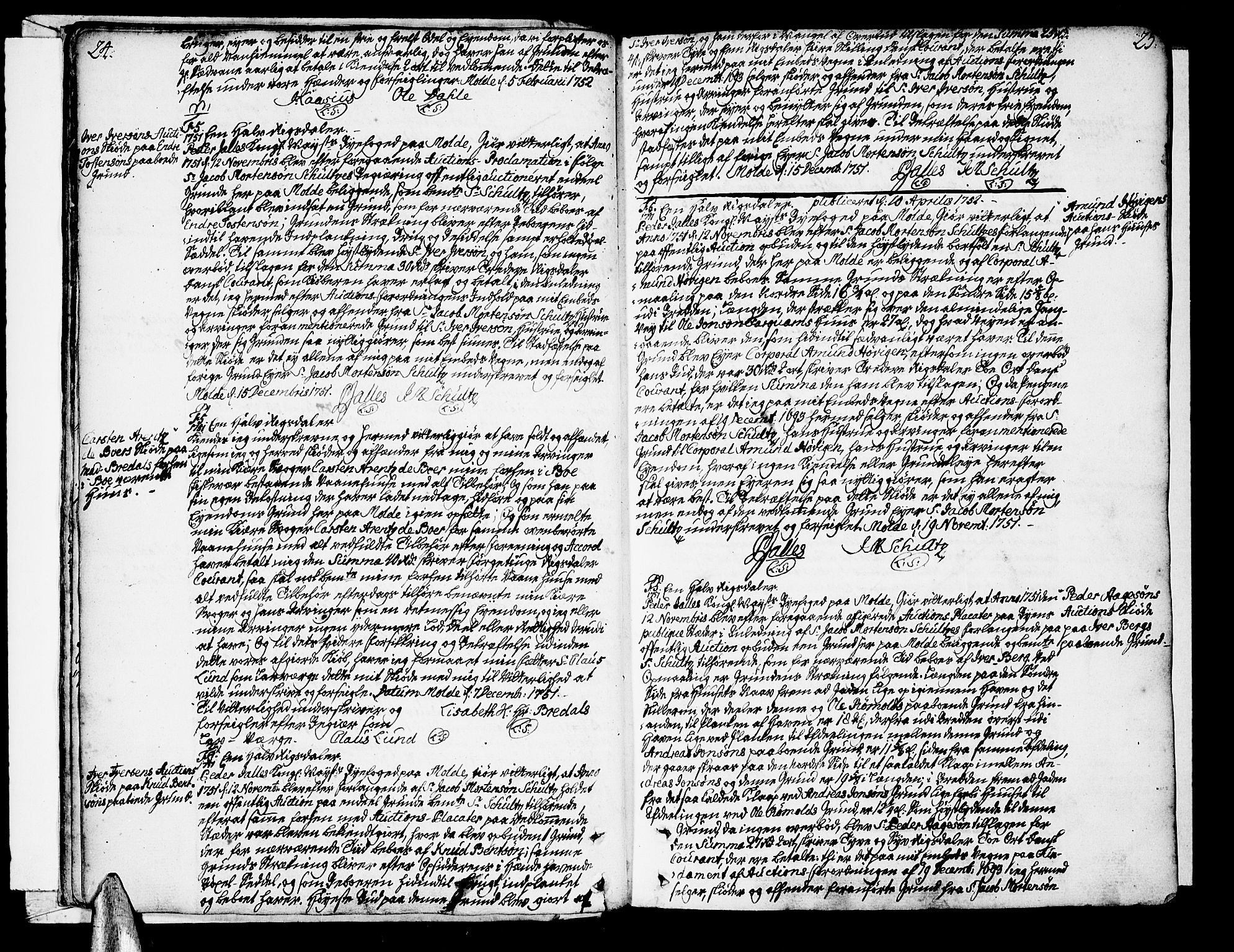 SAT, Molde byfogd, 2C/L0001: Pantebok nr. 1, 1748-1823, s. 24-25