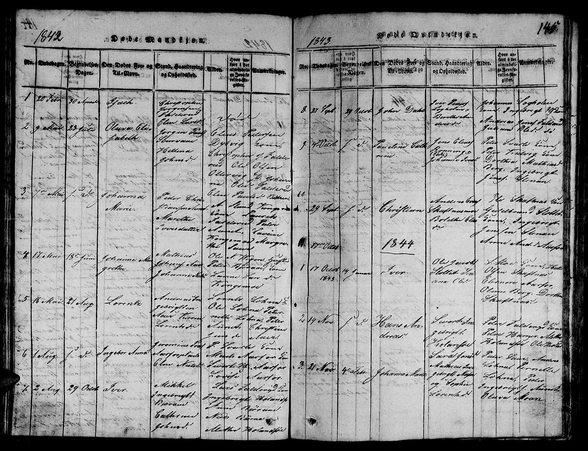SAT, Ministerialprotokoller, klokkerbøker og fødselsregistre - Nord-Trøndelag, 780/L0648: Klokkerbok nr. 780C01 /3, 1815-1877, s. 145