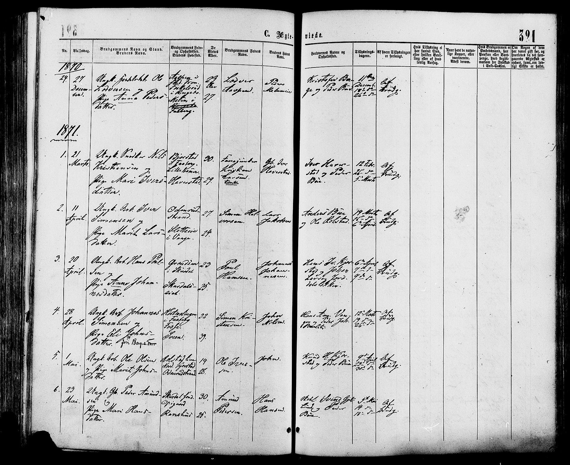 SAH, Sør-Fron prestekontor, H/Ha/Haa/L0002: Ministerialbok nr. 2, 1864-1880, s. 321