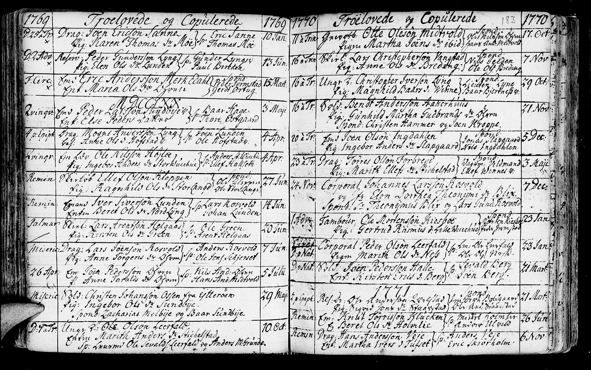 SAT, Ministerialprotokoller, klokkerbøker og fødselsregistre - Nord-Trøndelag, 723/L0231: Ministerialbok nr. 723A02, 1748-1780, s. 183