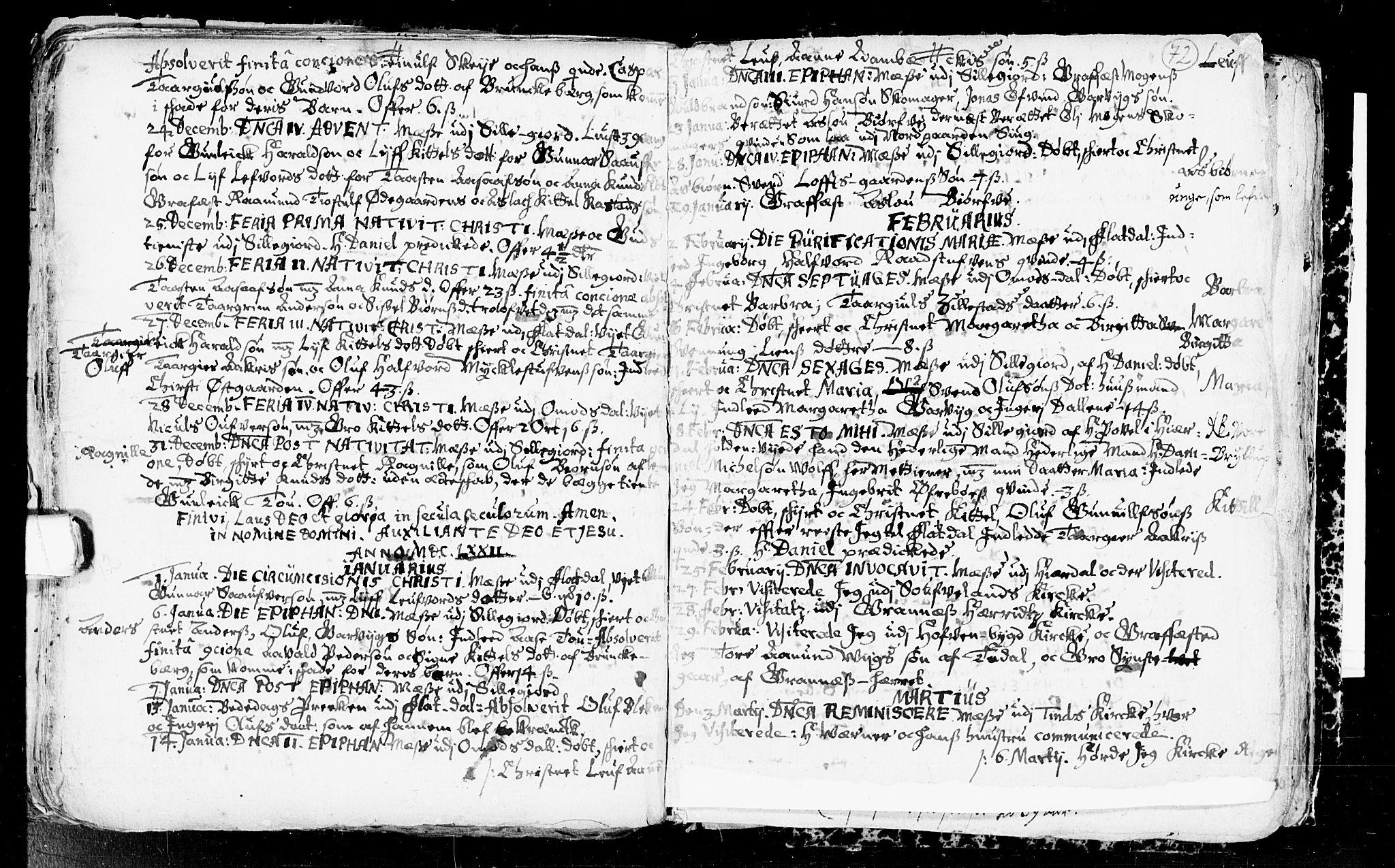 SAKO, Seljord kirkebøker, F/Fa/L0001: Ministerialbok nr. I 1, 1654-1686, s. 72
