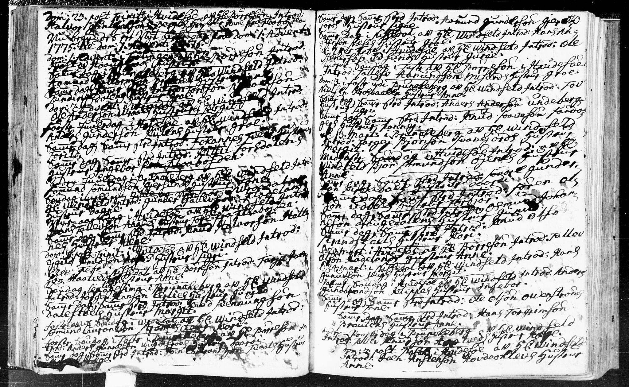 SAKO, Kviteseid kirkebøker, F/Fa/L0002: Ministerialbok nr. I 2, 1773-1786, s. 70