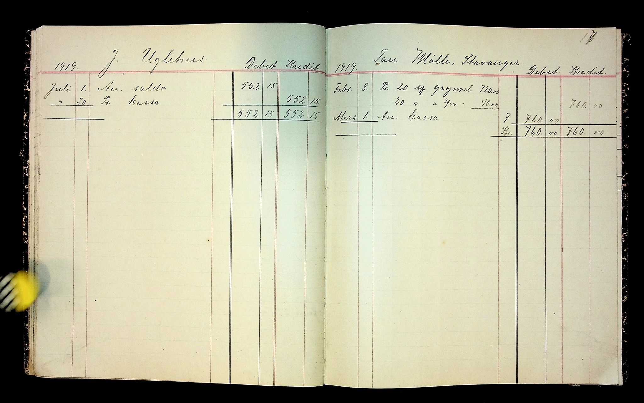 IKAH, Varaldsøy kommune. Mundheim provianteringsråd, R/Ra/L0002: Kontobok  for Mundheim provianteringsråd, 1919-1920, s. 18
