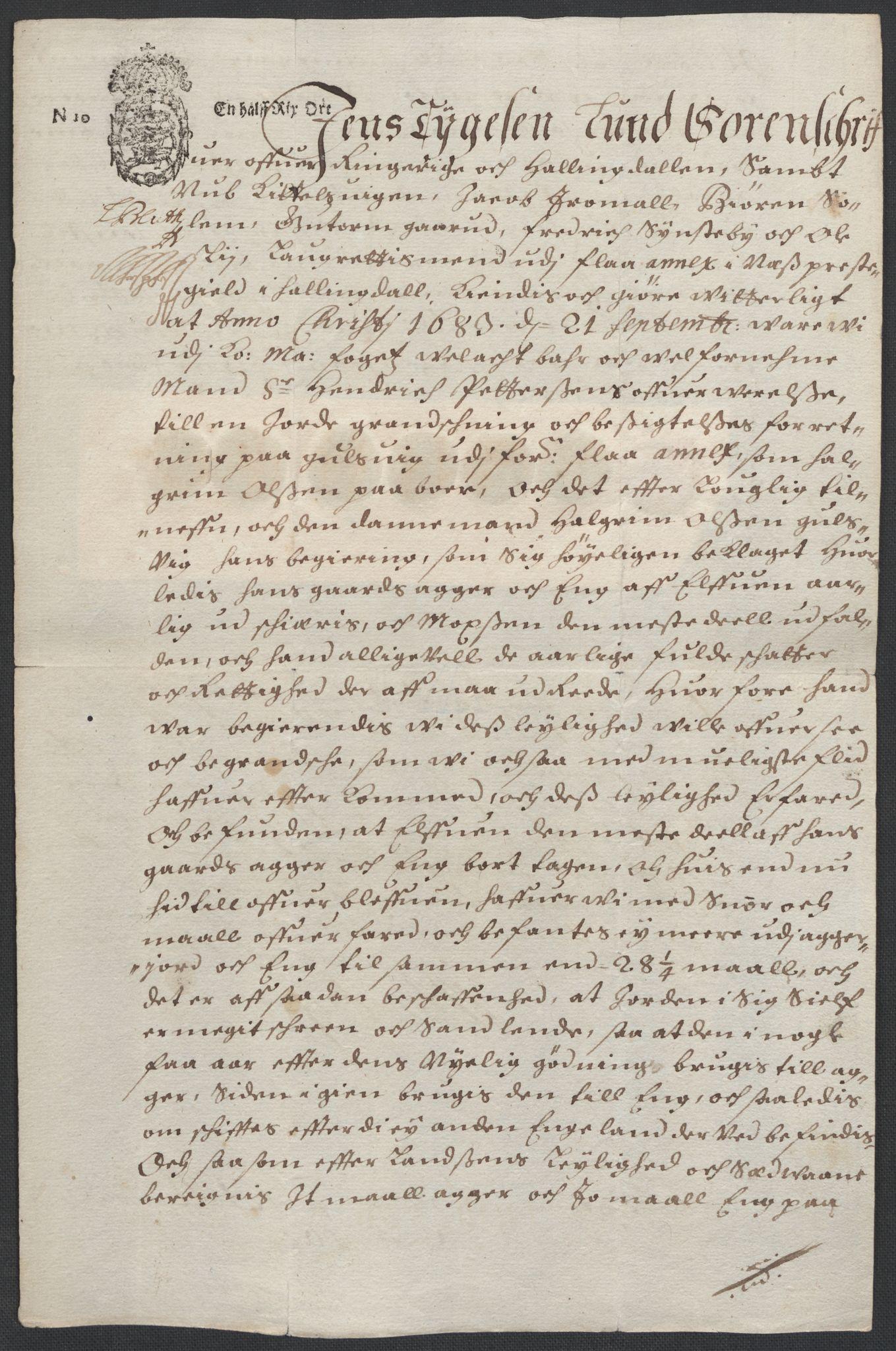 RA, Rentekammeret inntil 1814, Reviderte regnskaper, Fogderegnskap, R21/L1446: Fogderegnskap Ringerike og Hallingdal, 1683-1686, s. 277
