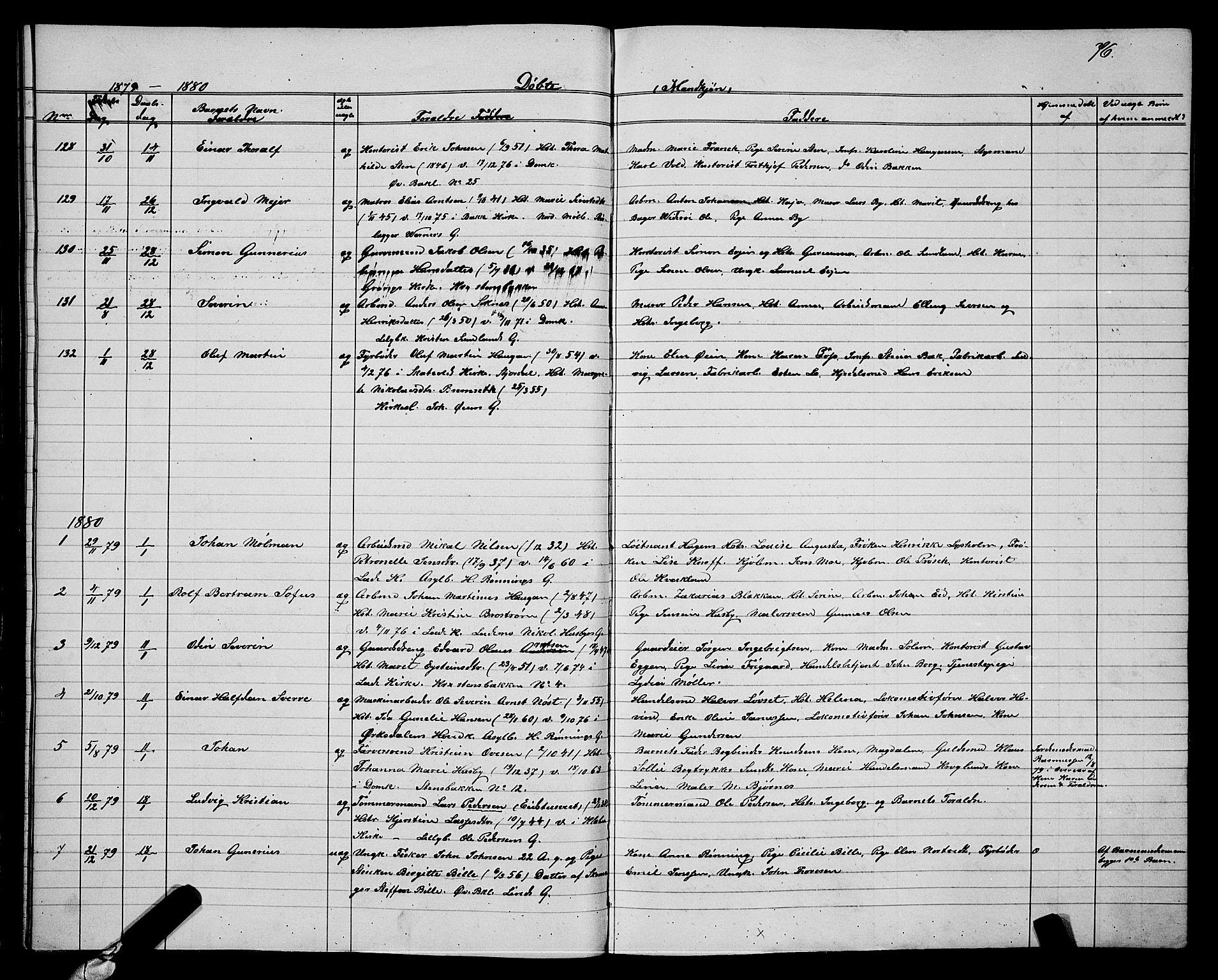 SAT, Ministerialprotokoller, klokkerbøker og fødselsregistre - Sør-Trøndelag, 604/L0220: Klokkerbok nr. 604C03, 1870-1885, s. 76