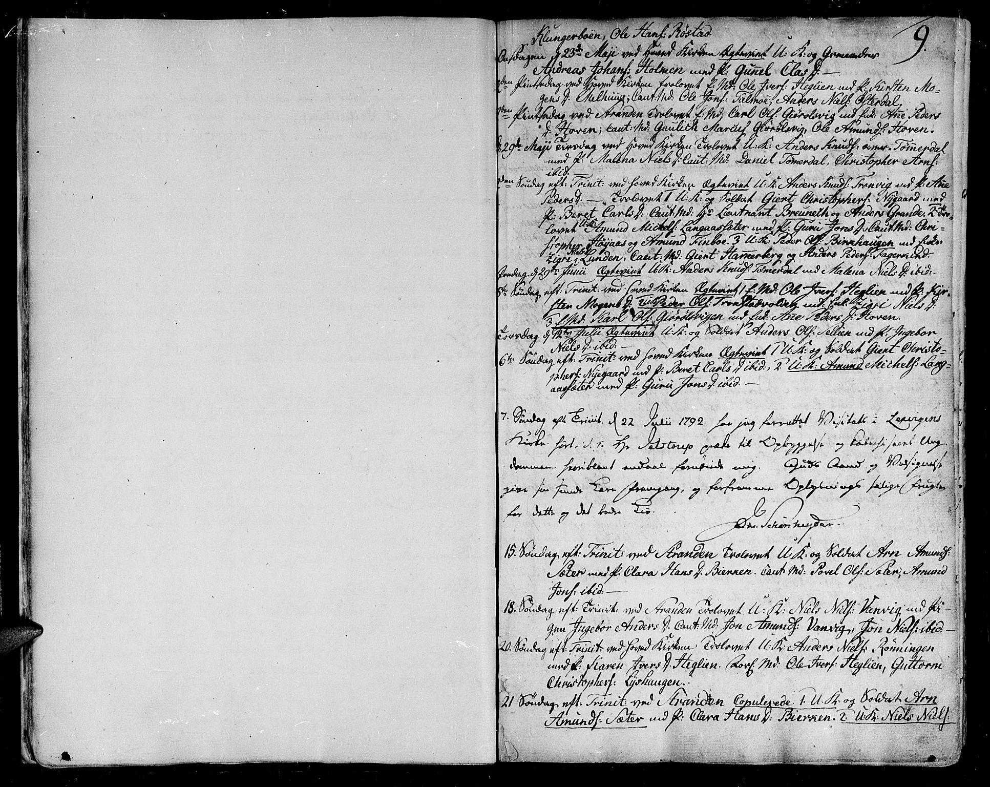 SAT, Ministerialprotokoller, klokkerbøker og fødselsregistre - Nord-Trøndelag, 701/L0004: Ministerialbok nr. 701A04, 1783-1816, s. 9