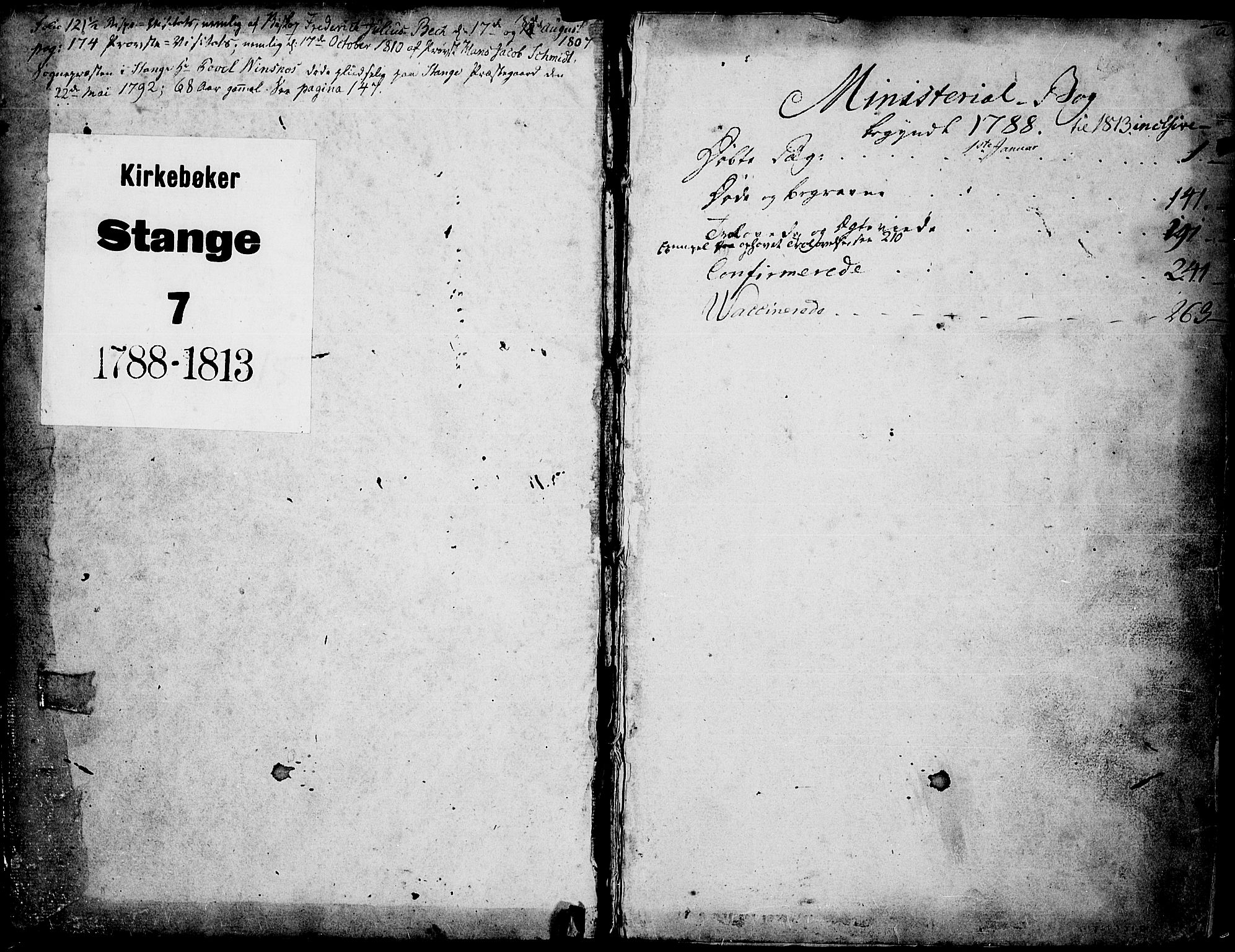 SAH, Stange prestekontor, K/L0007: Ministerialbok nr. 7, 1788-1813