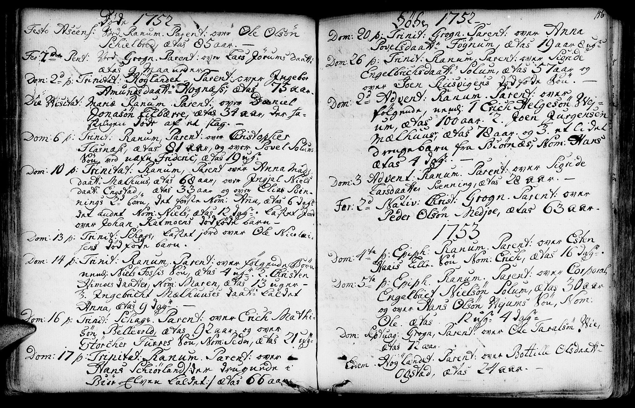 SAT, Ministerialprotokoller, klokkerbøker og fødselsregistre - Nord-Trøndelag, 764/L0542: Ministerialbok nr. 764A02, 1748-1779, s. 156
