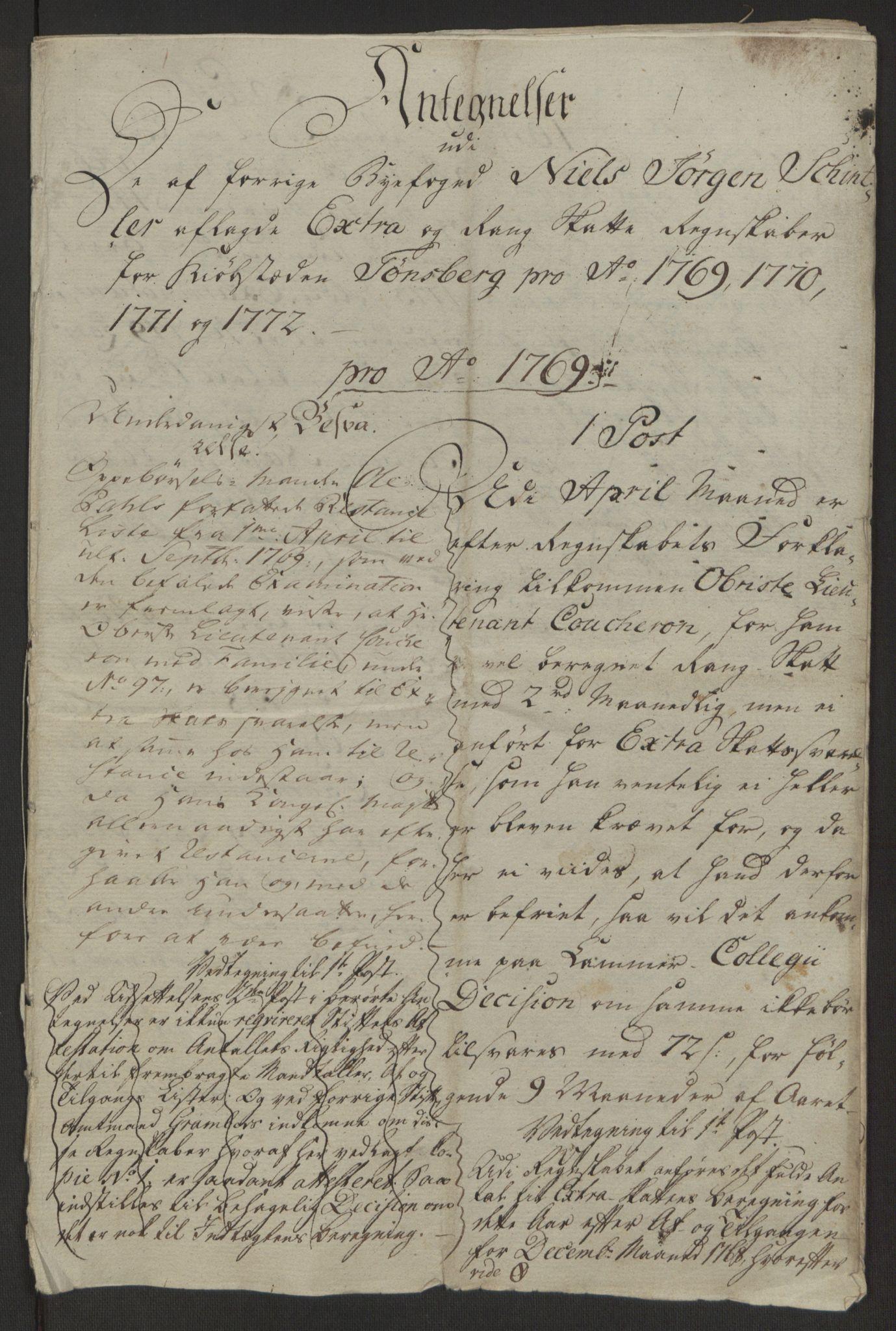 RA, Rentekammeret inntil 1814, Reviderte regnskaper, Byregnskaper, R/Rh/L0162: [H4] Kontribusjonsregnskap, 1762-1772, s. 533