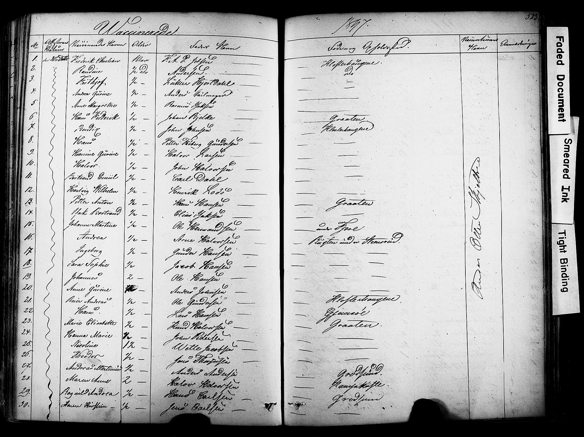 SAKO, Solum kirkebøker, F/Fa/L0006: Ministerialbok nr. I 6, 1844-1855, s. 523
