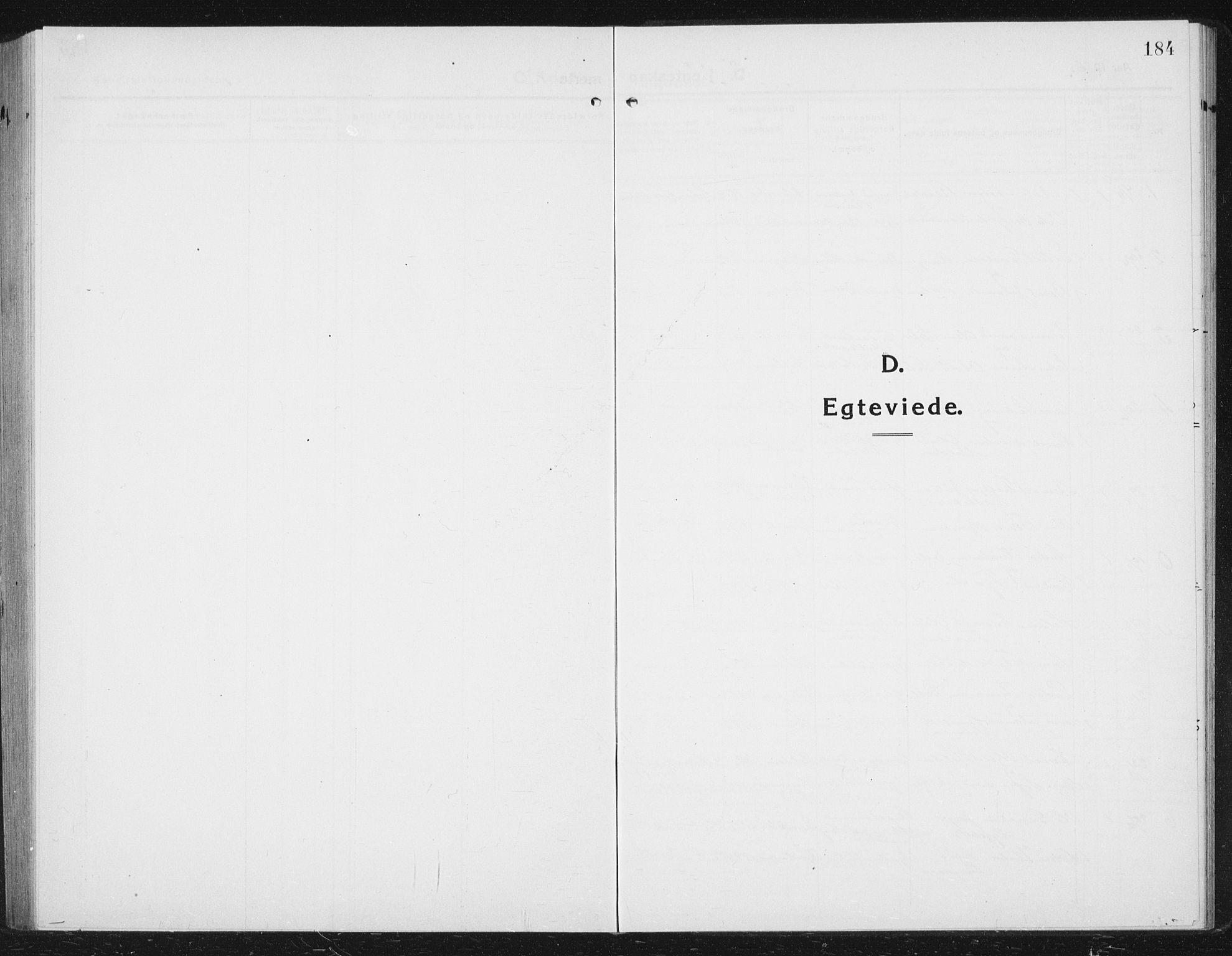 SAT, Ministerialprotokoller, klokkerbøker og fødselsregistre - Sør-Trøndelag, 630/L0506: Klokkerbok nr. 630C04, 1914-1933, s. 184