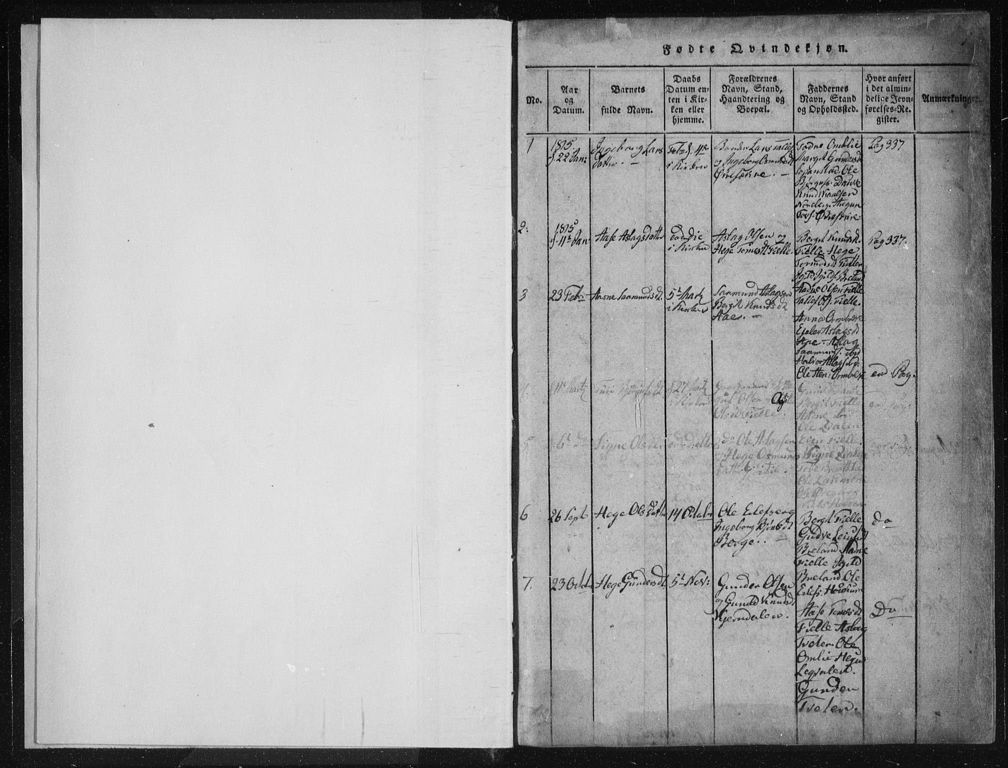 SAKO, Lårdal kirkebøker, F/Fc/L0001: Ministerialbok nr. III 1, 1815-1860, s. 1