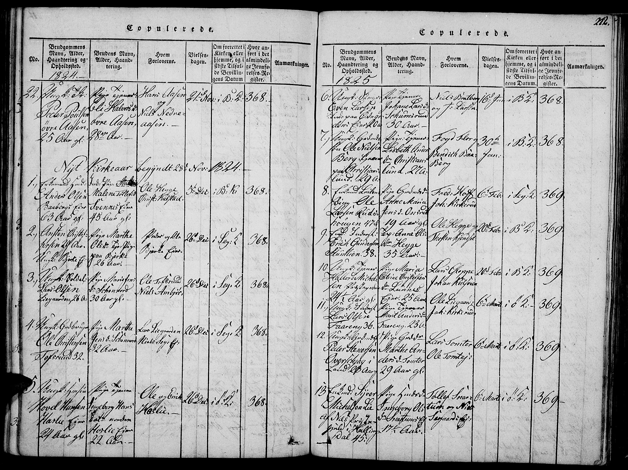 SAH, Biri prestekontor, Ministerialbok nr. 3, 1814-1828, s. 212