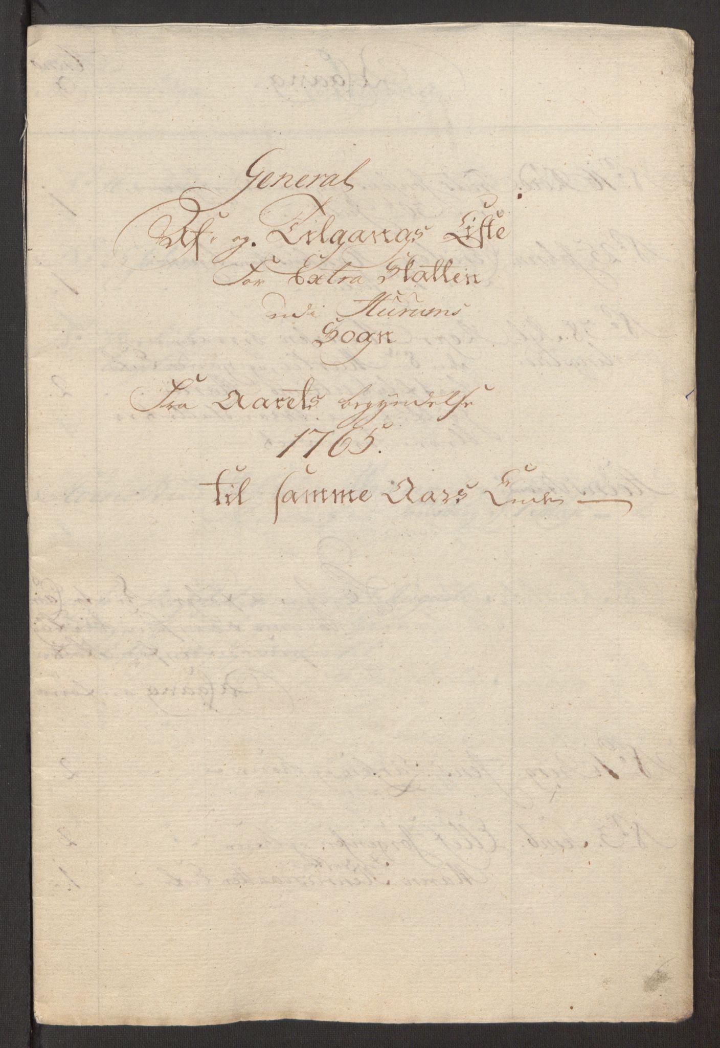 RA, Rentekammeret inntil 1814, Reviderte regnskaper, Fogderegnskap, R31/L1834: Ekstraskatten Hurum, Røyken, Eiker, Lier og Buskerud, 1765, s. 401