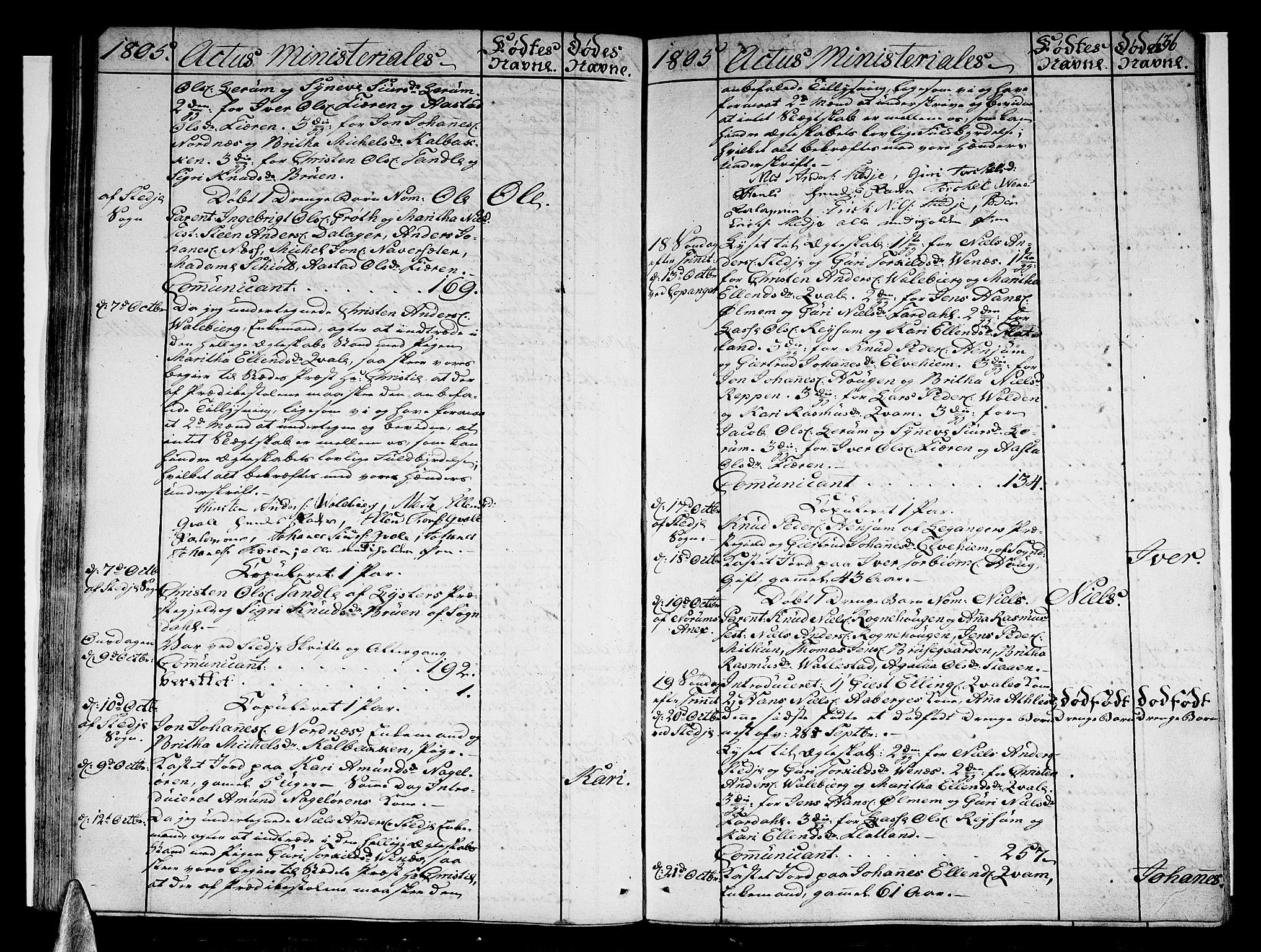 SAB, Sogndal sokneprestembete, H/Haa/Haaa/L0008: Ministerialbok nr. A 8, 1795-1809, s. 136