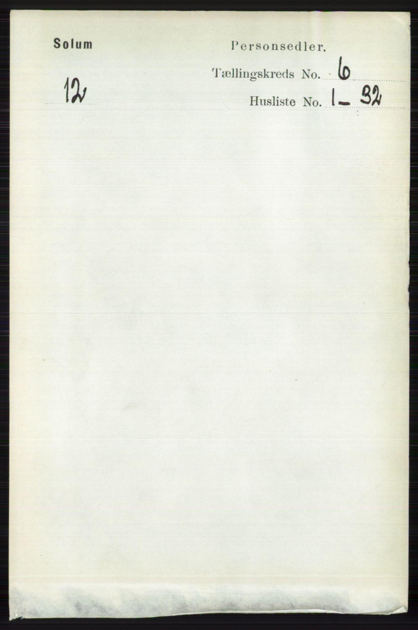 RA, Folketelling 1891 for 0818 Solum herred, 1891, s. 1186