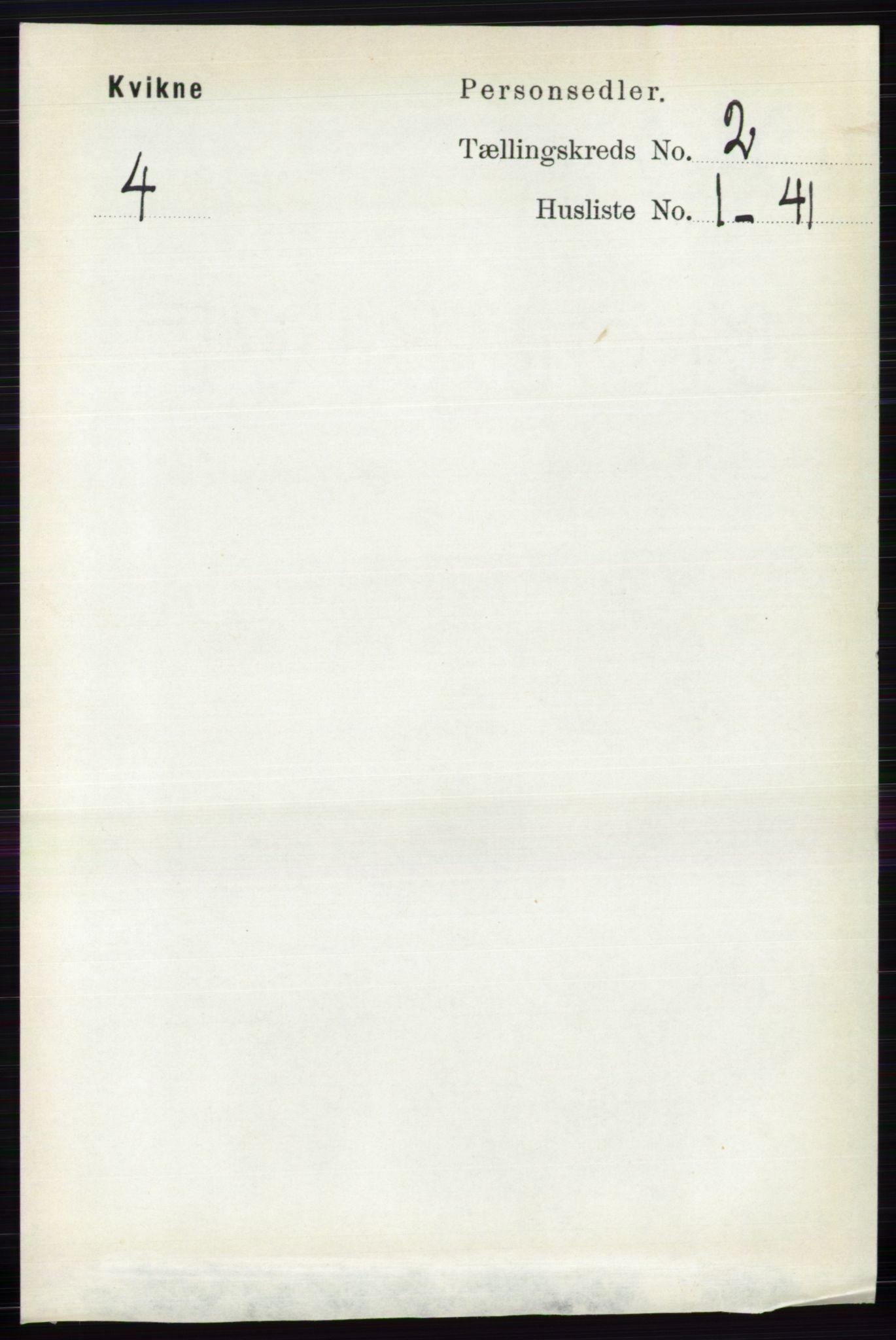 RA, Folketelling 1891 for 0440 Kvikne herred, 1891, s. 298